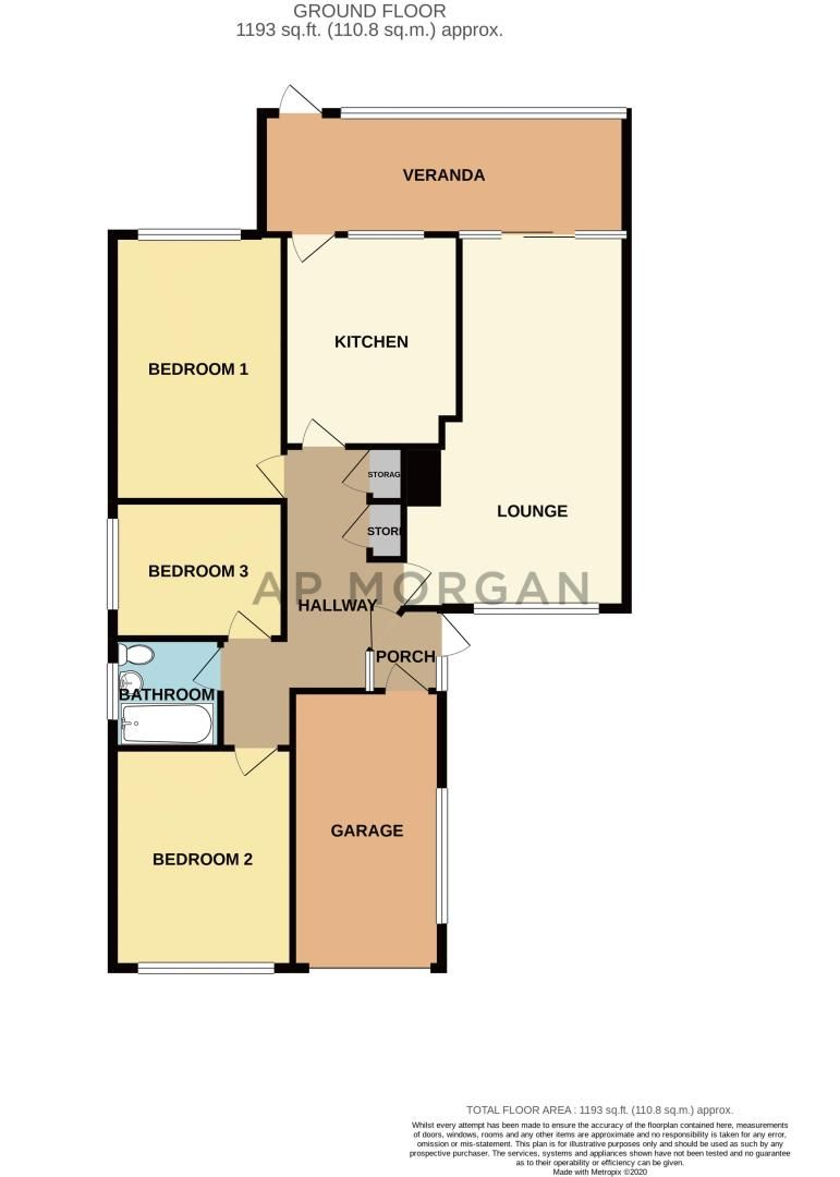 3 bed bungalow for sale in Hungerford Road - Property Floorplan