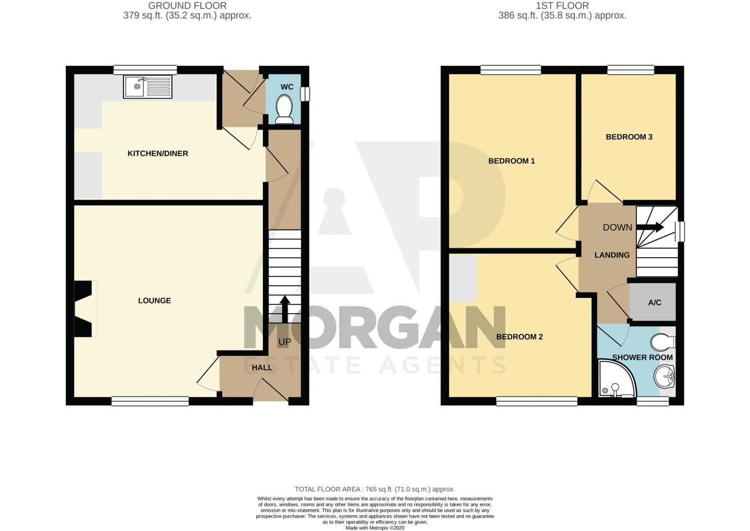 3 bed house for sale in Sutherland Road - Property Floorplan
