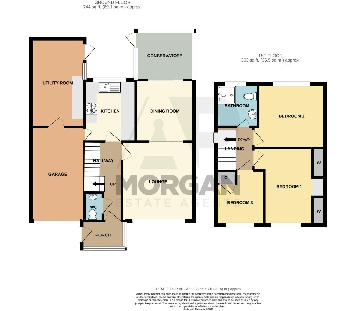 3 bed house for sale in Julian Close - Property Floorplan