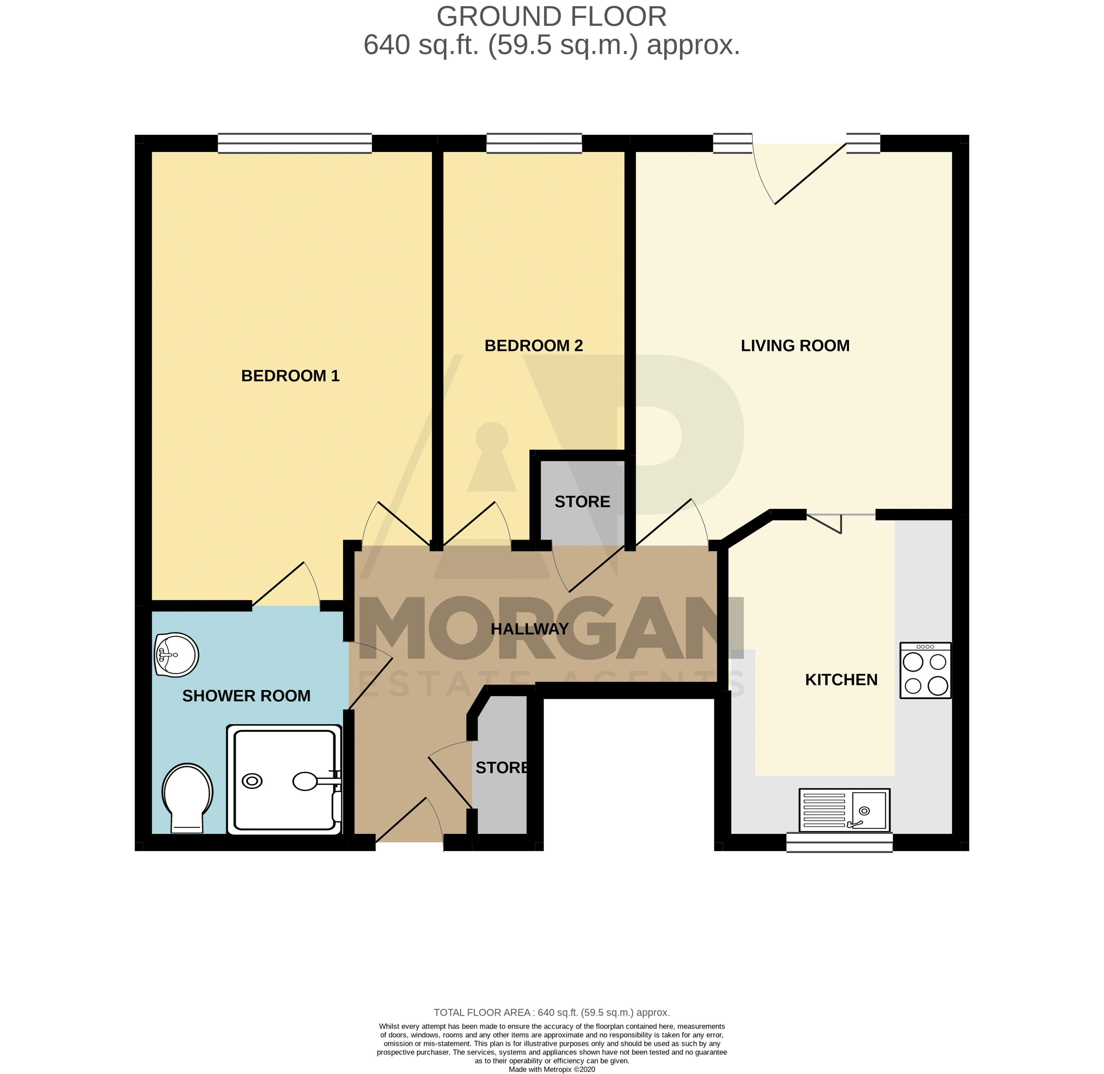 2 bed flat for sale in Gilbert Road - Property Floorplan