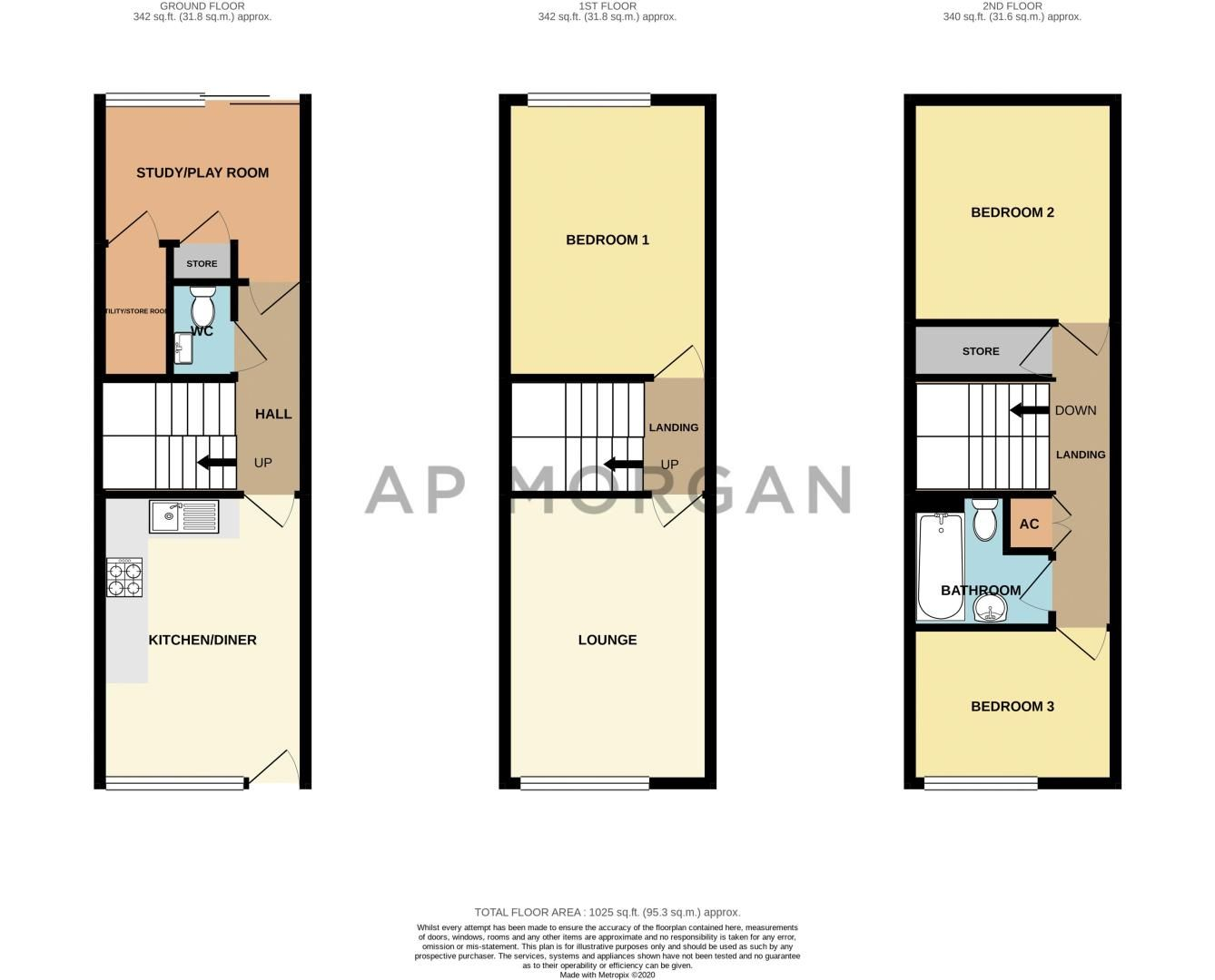 3 bed house for sale in Rowley Village - Property Floorplan