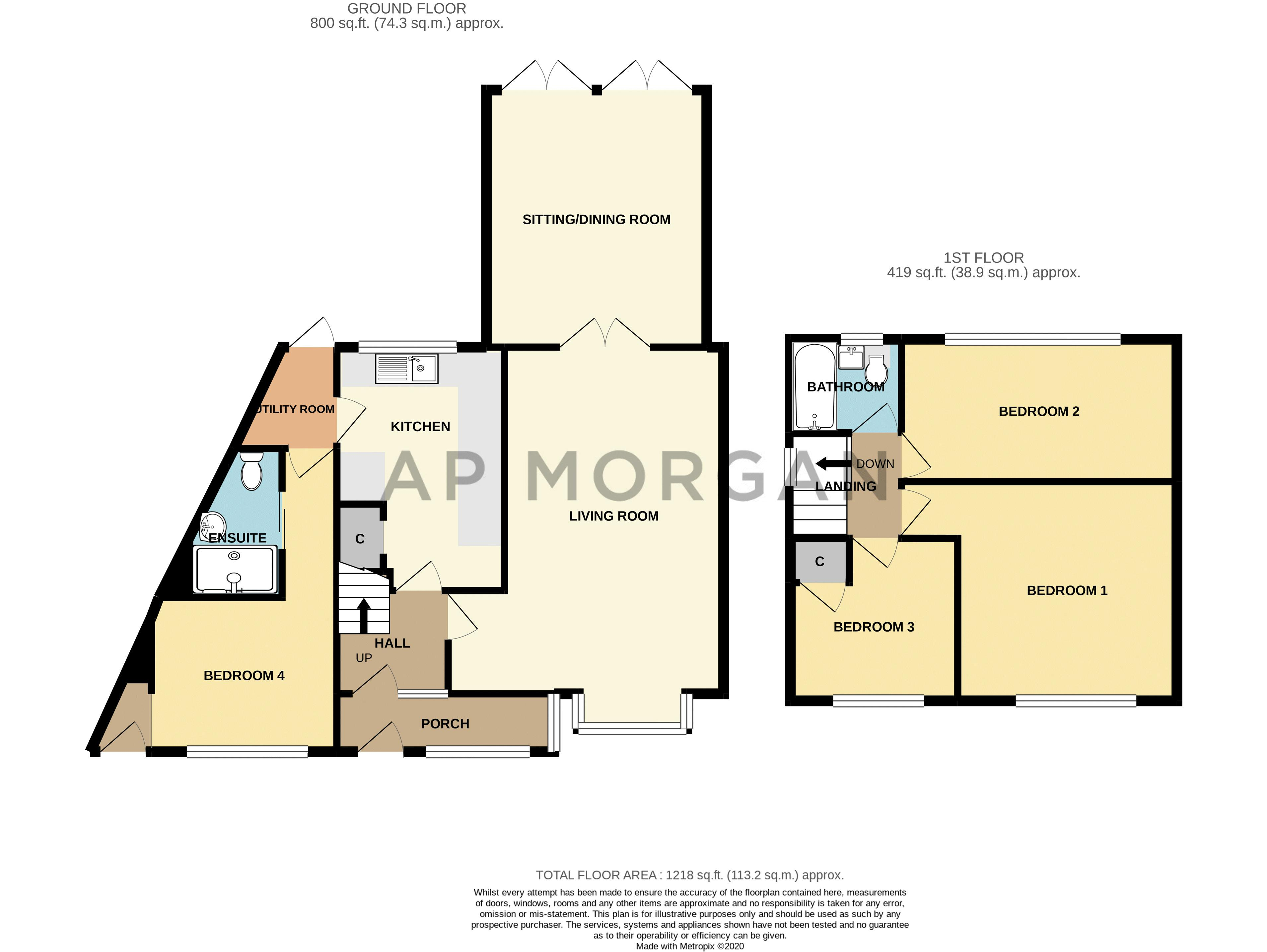4 bed house for sale in Baptist End Road - Property Floorplan