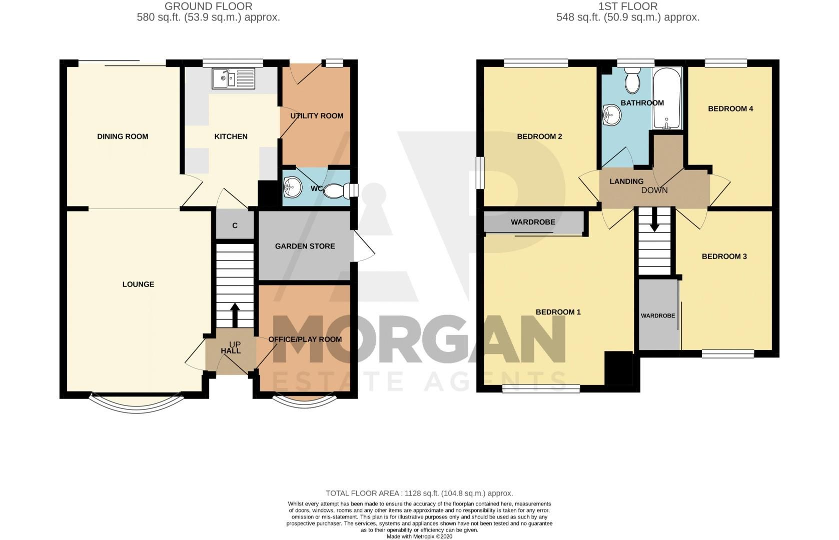 4 bed house to rent in Tythe Barn Close - Property Floorplan