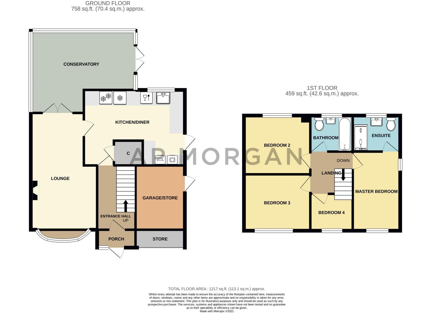 4 bed house for sale in Cheswick Close - Property Floorplan