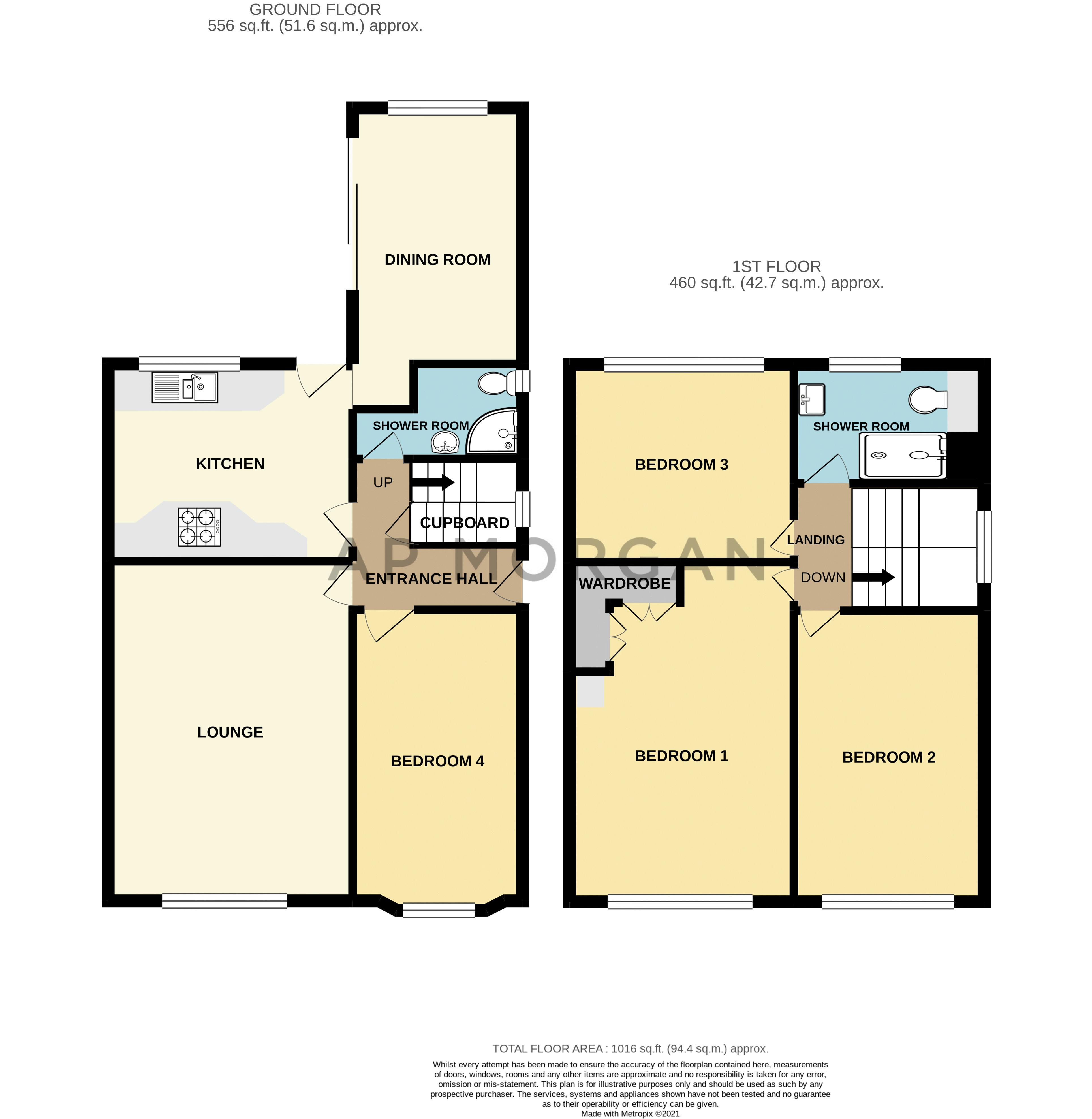 4 bed house for sale in Bernwall Close - Property Floorplan
