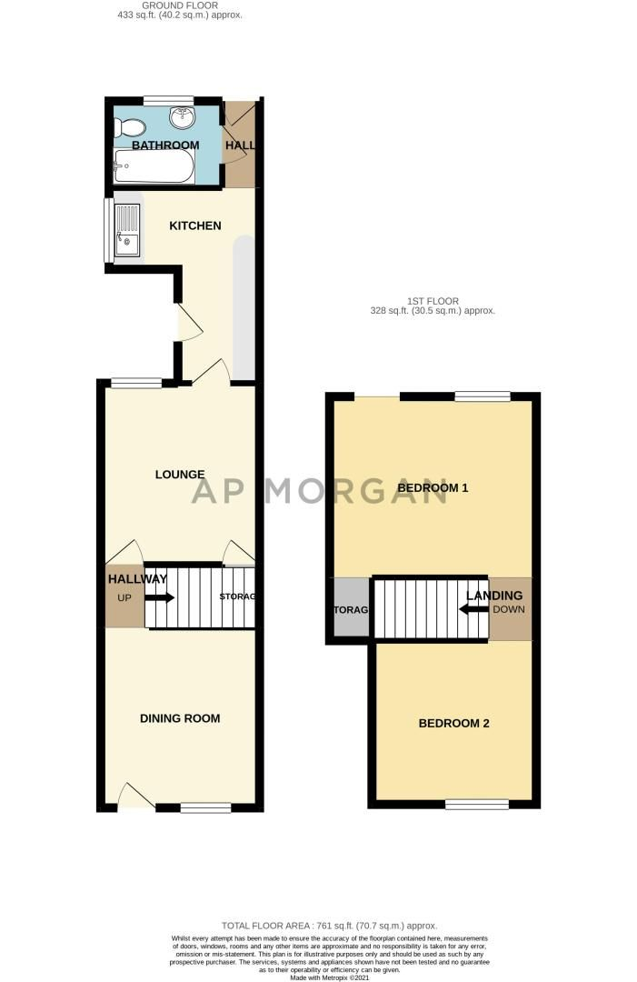 2 bed house for sale in Olive Hill Road - Property Floorplan