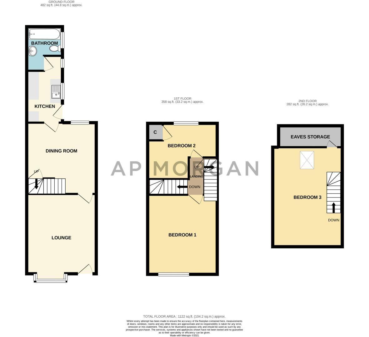 3 bed house for sale in Grange Road - Property Floorplan