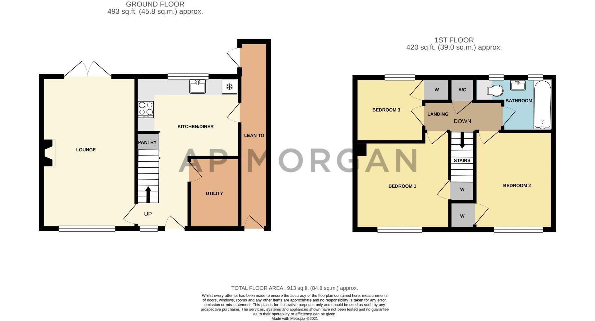 3 bed house for sale in Watts Road - Property Floorplan