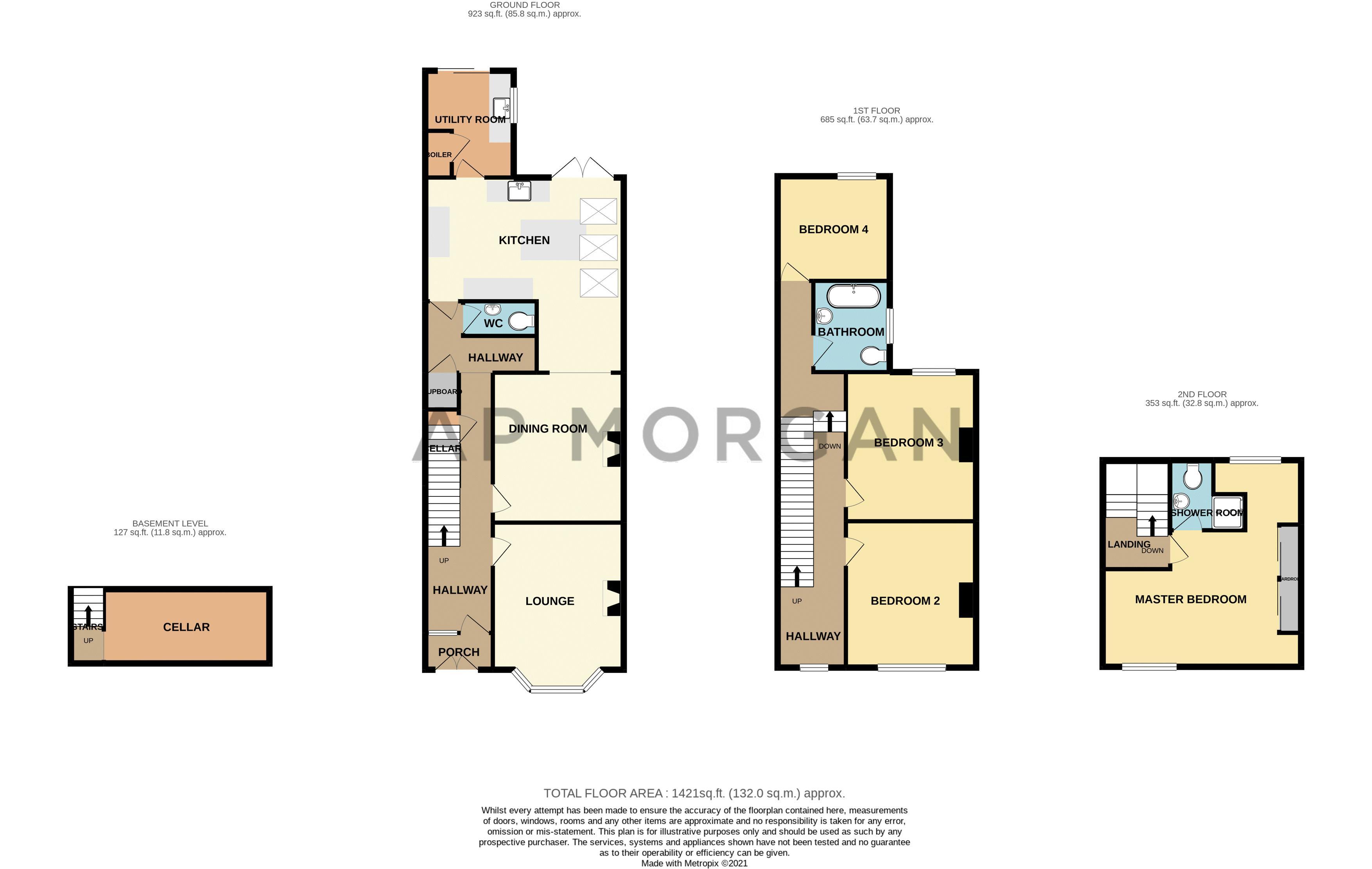 4 bed house for sale in Birchfield Road - Property Floorplan
