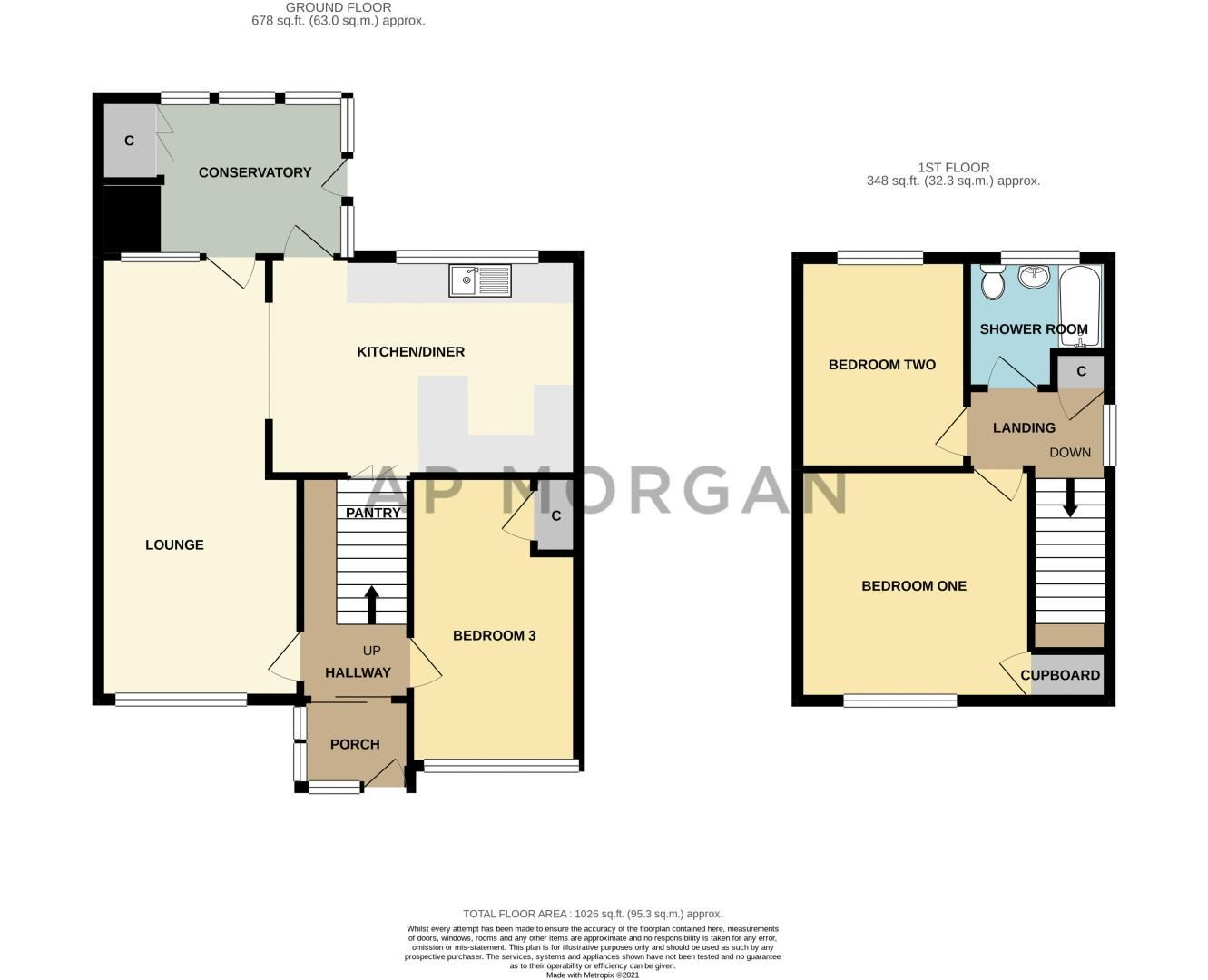 3 bed house for sale in Eden Close - Property Floorplan