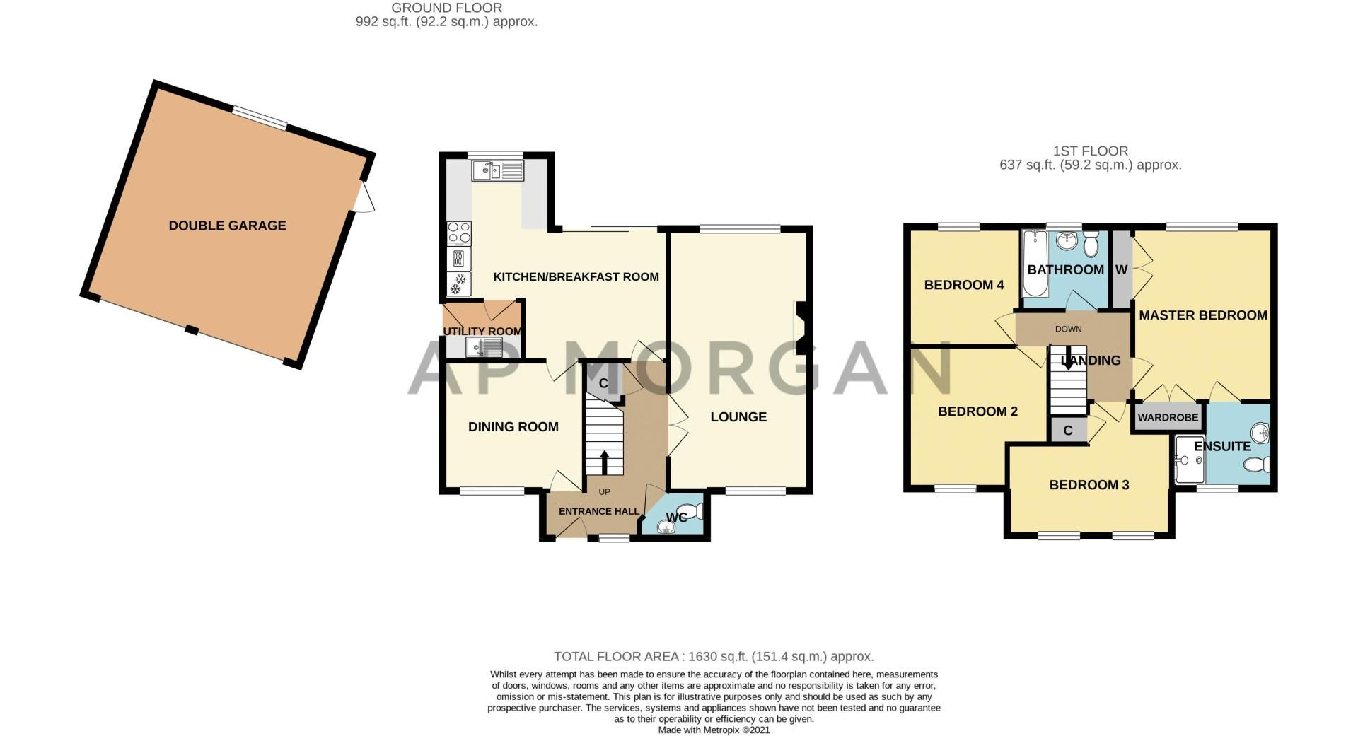 4 bed house for sale in Green Bower Drive - Property Floorplan