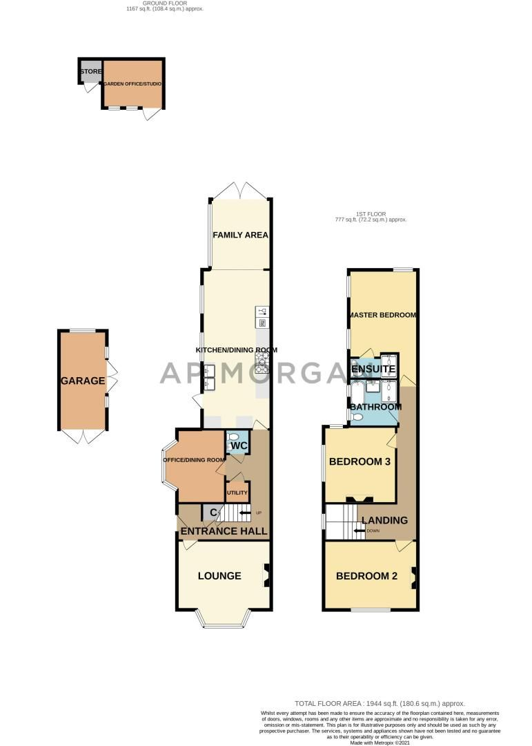 3 bed house for sale in College Road - Property Floorplan