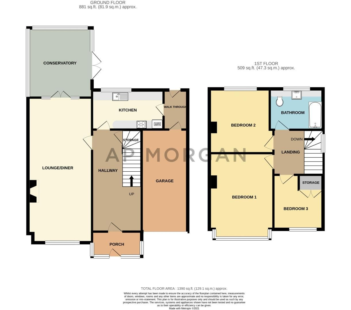 3 bed house for sale in Lansdowne Road - Property Floorplan