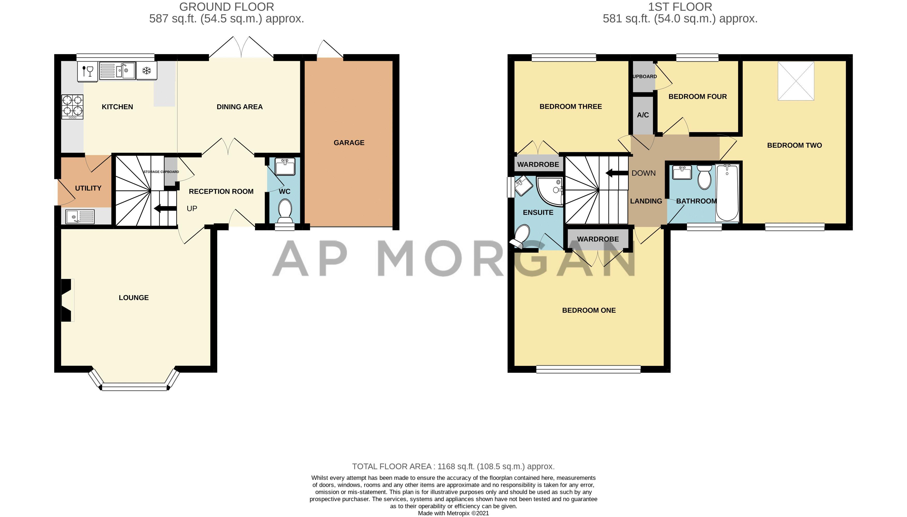 4 bed house for sale in Parklands Close - Property Floorplan