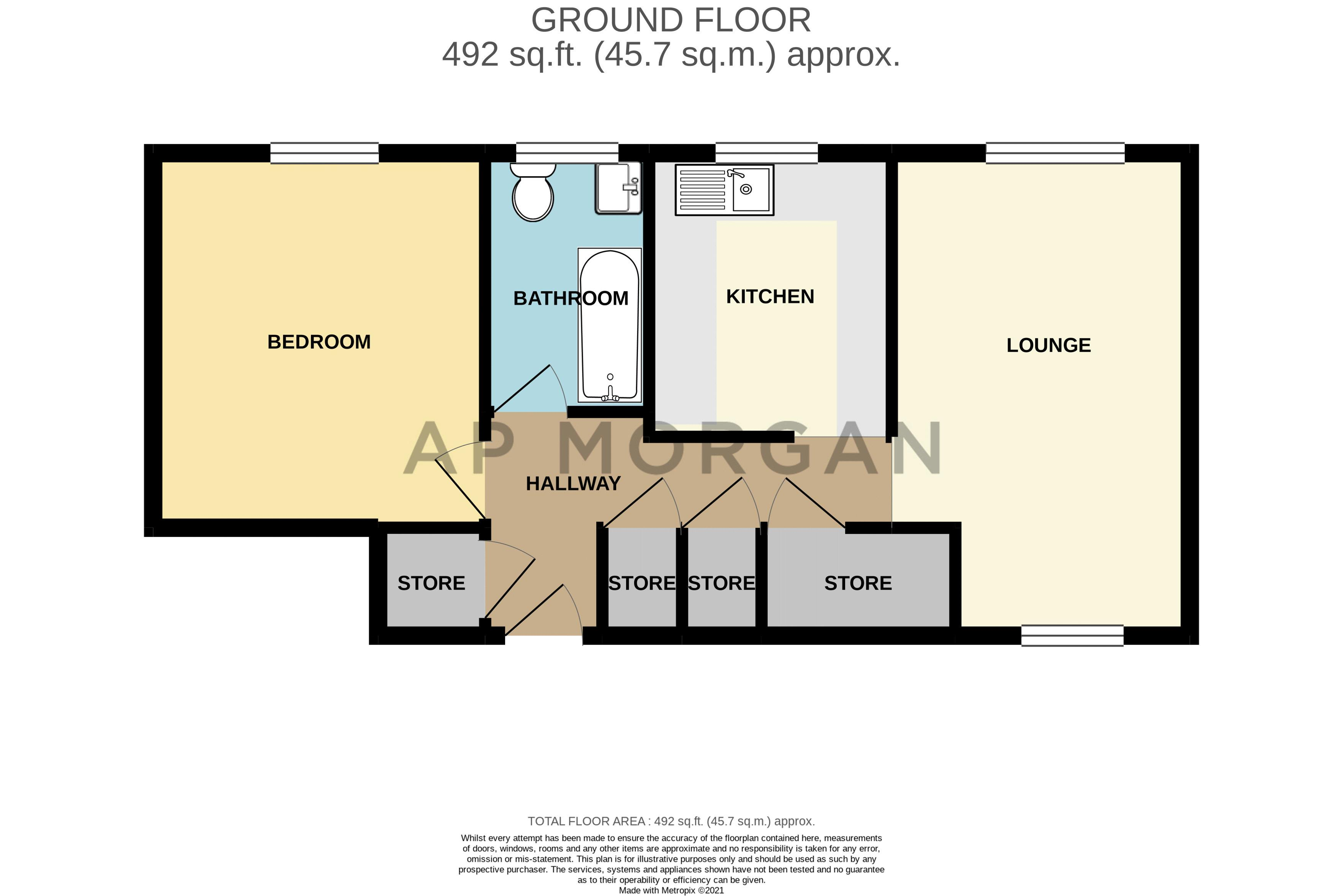 1 bed  for sale in Harebell Gardens - Property Floorplan