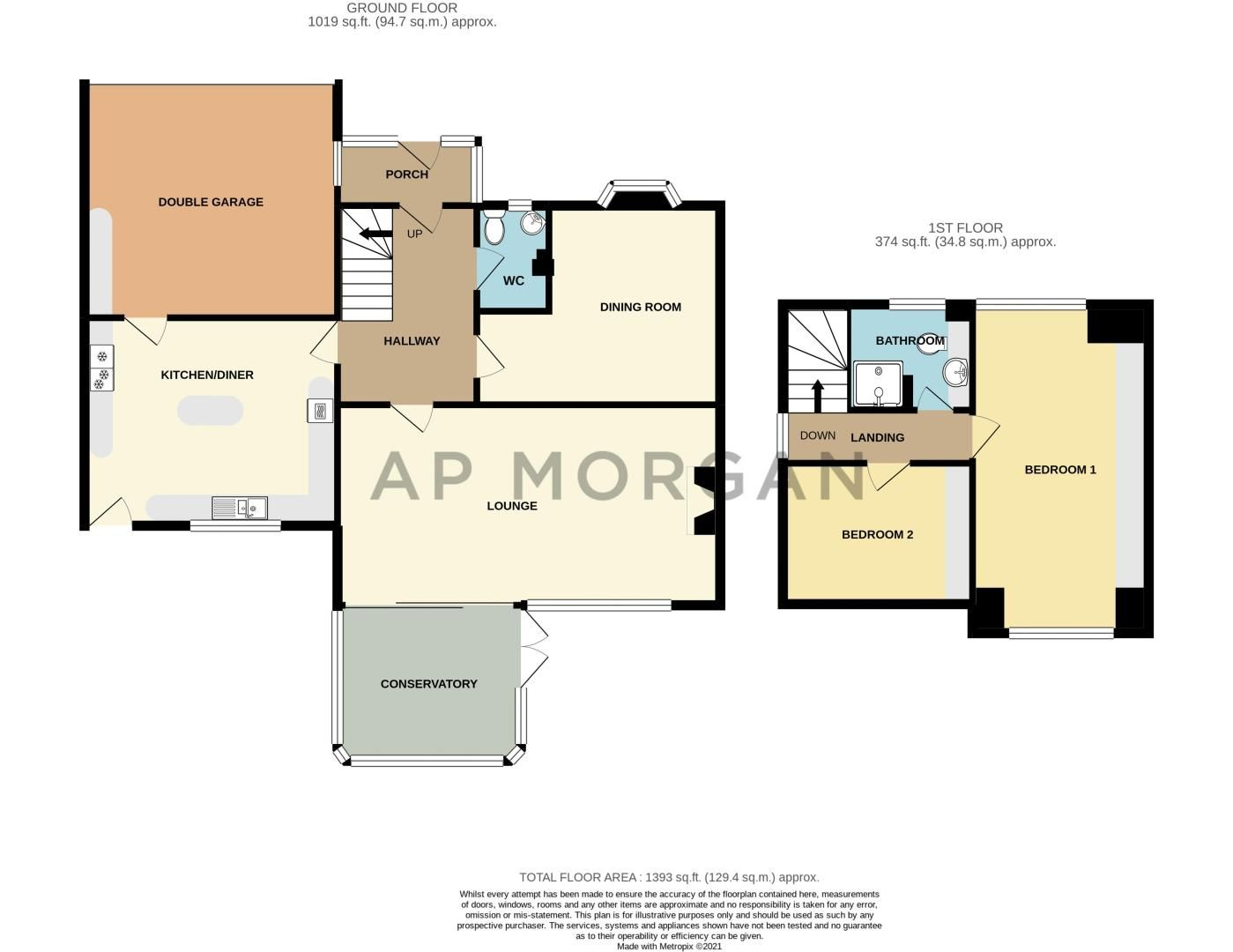 2 bed bungalow for sale in Glenelg Drive - Property Floorplan