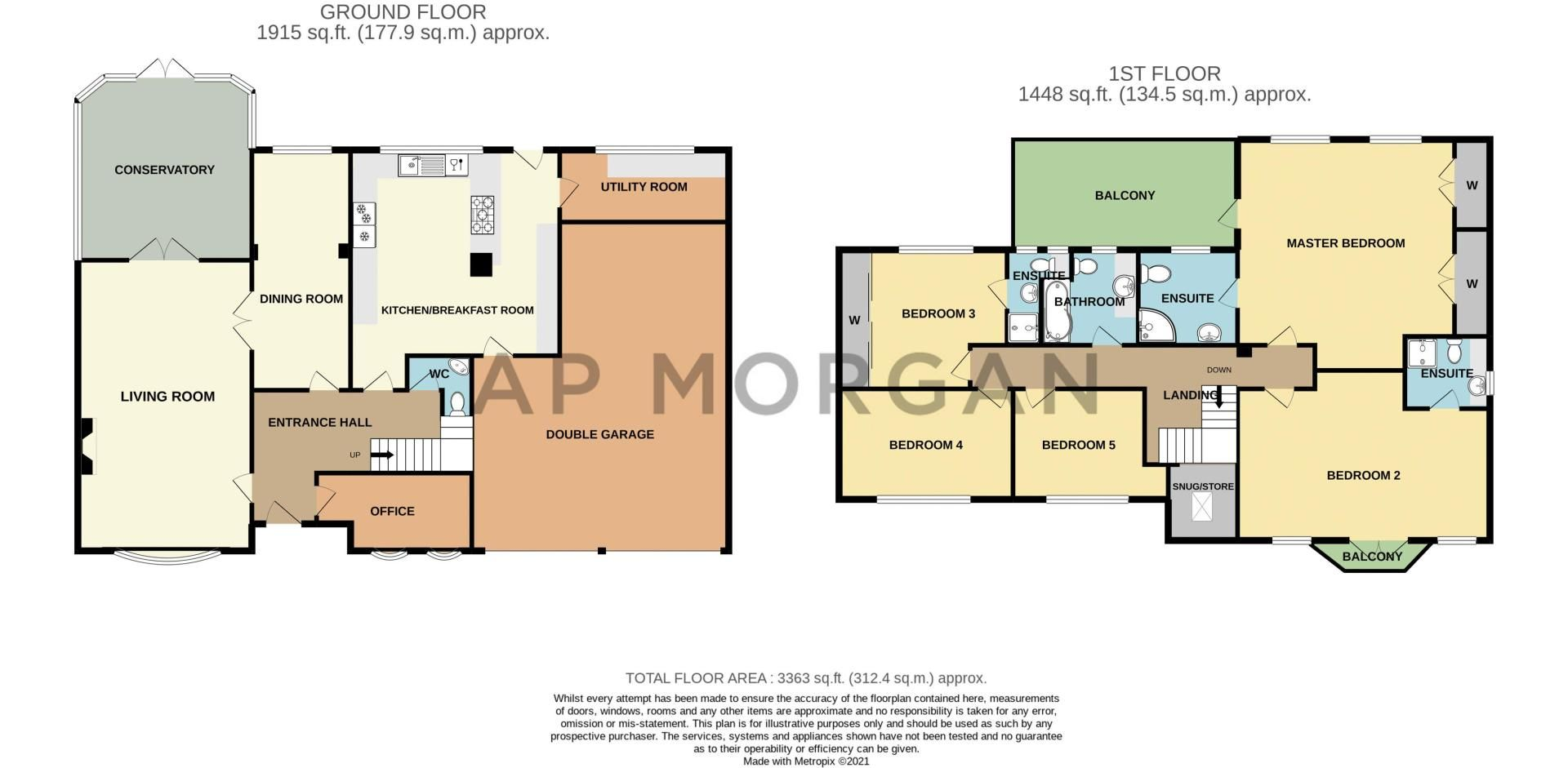 5 bed house for sale in Hunters Ride - Property Floorplan