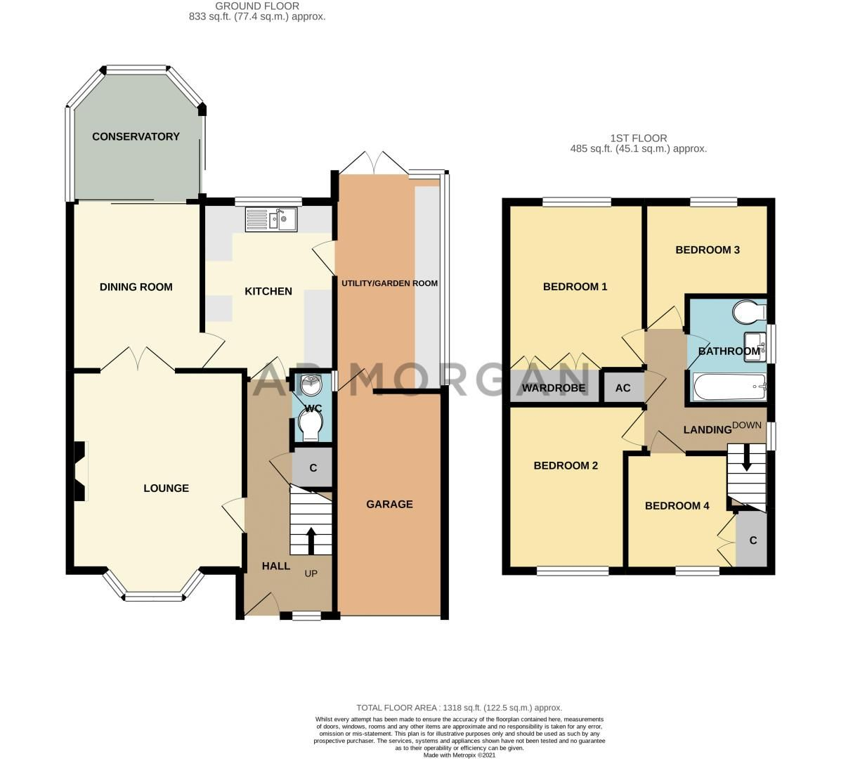 4 bed house for sale in Harrow Close - Property Floorplan