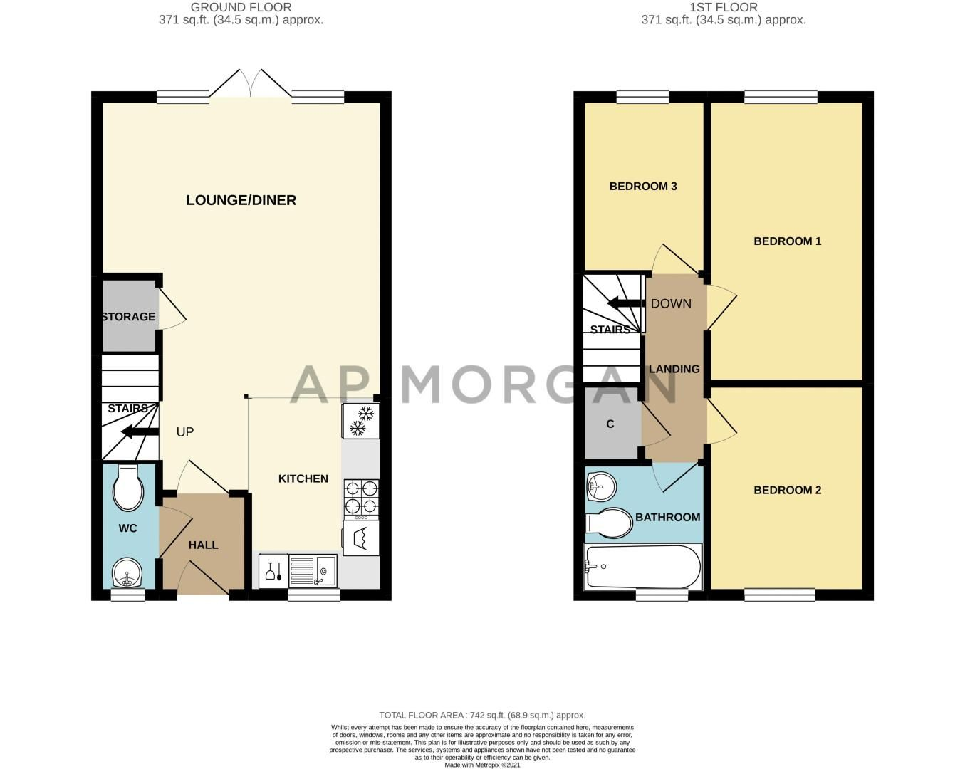 3 bed house for sale in Kingcup Close - Property Floorplan