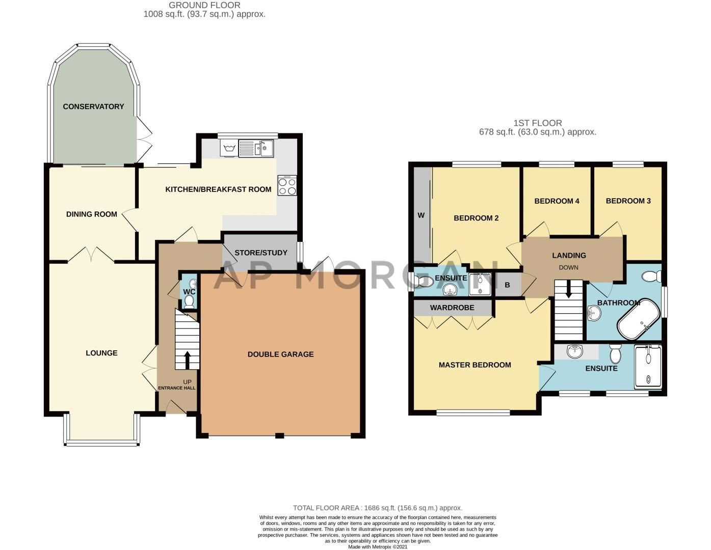 4 bed house for sale in Chepstow Drive - Property Floorplan