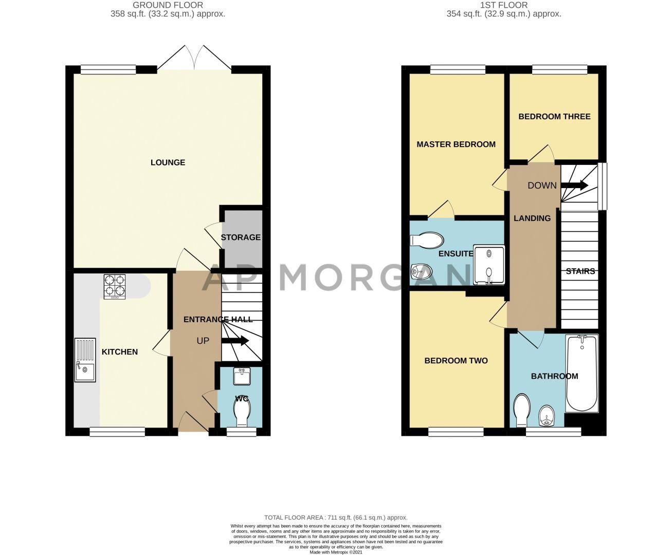 3 bed house for sale in George Wood Avenue - Property Floorplan