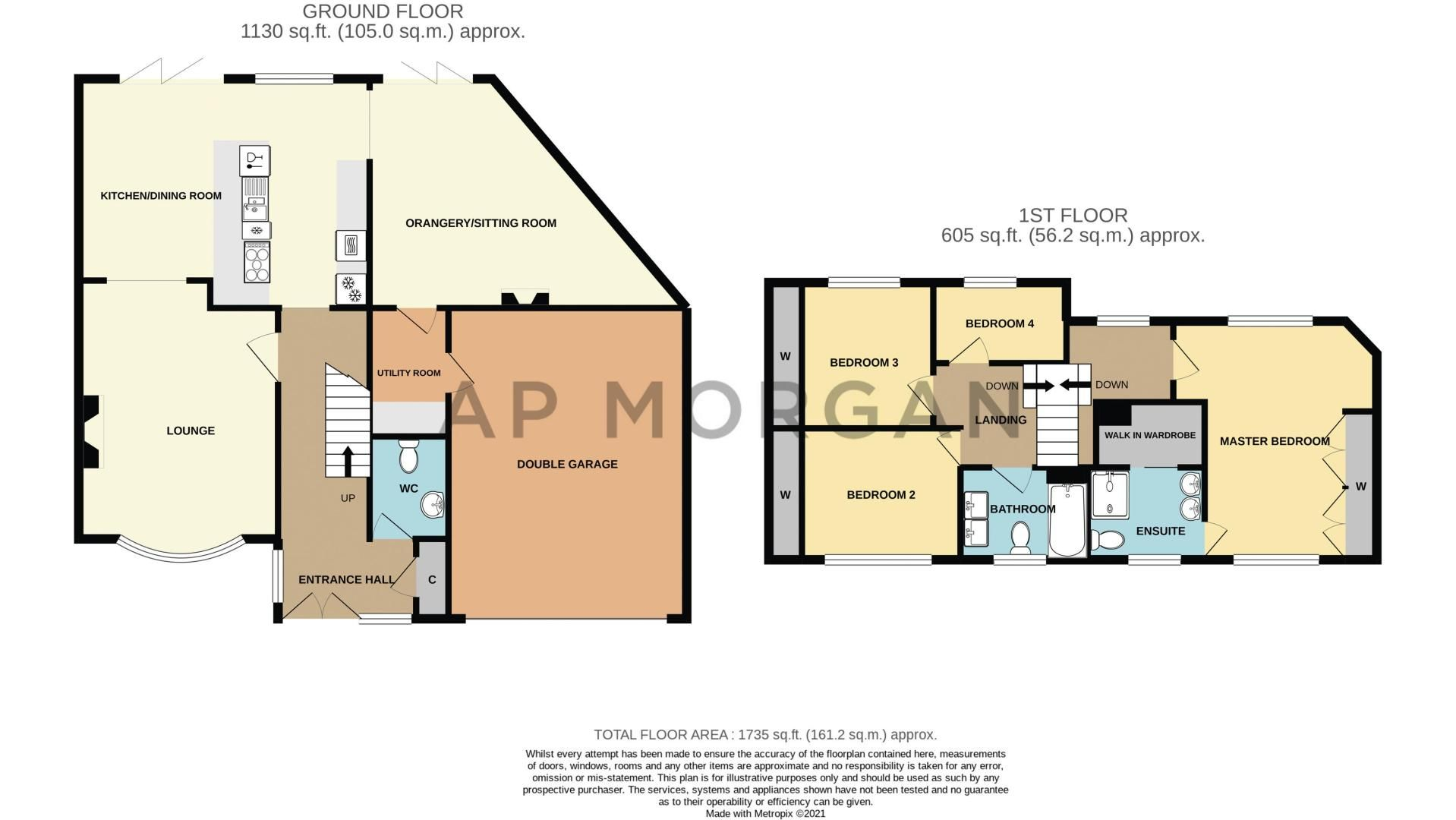 4 bed house for sale in Holbeache Road - Property Floorplan