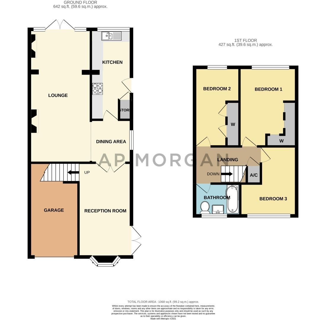 3 bed house for sale in Acorn Road - Property Floorplan