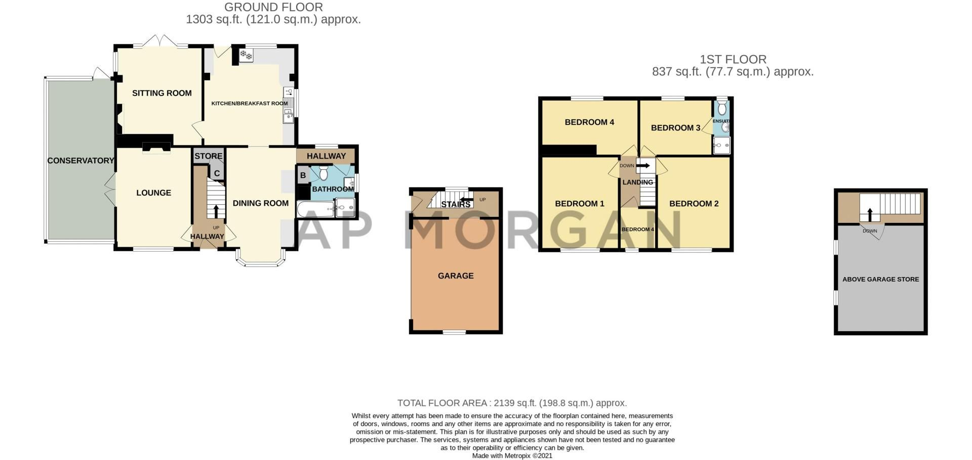 4 bed house for sale in Sharpway Gate - Property Floorplan