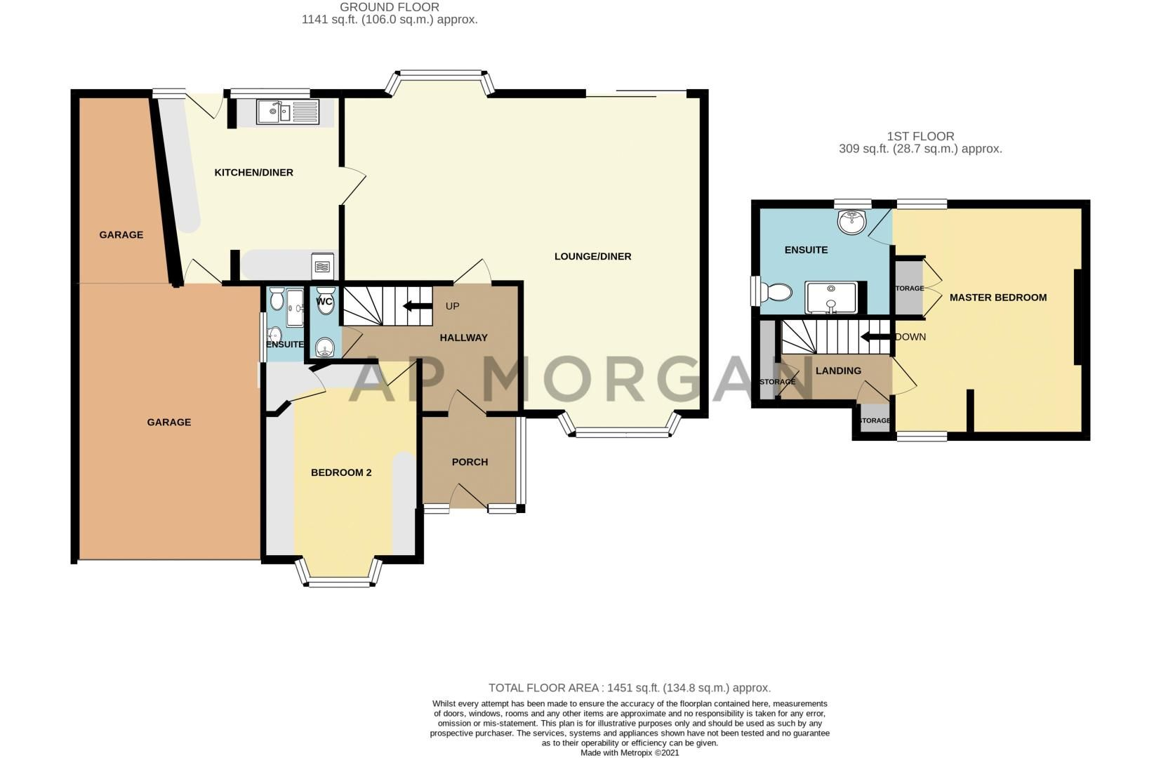 2 bed house for sale in Mucklow Hill - Property Floorplan