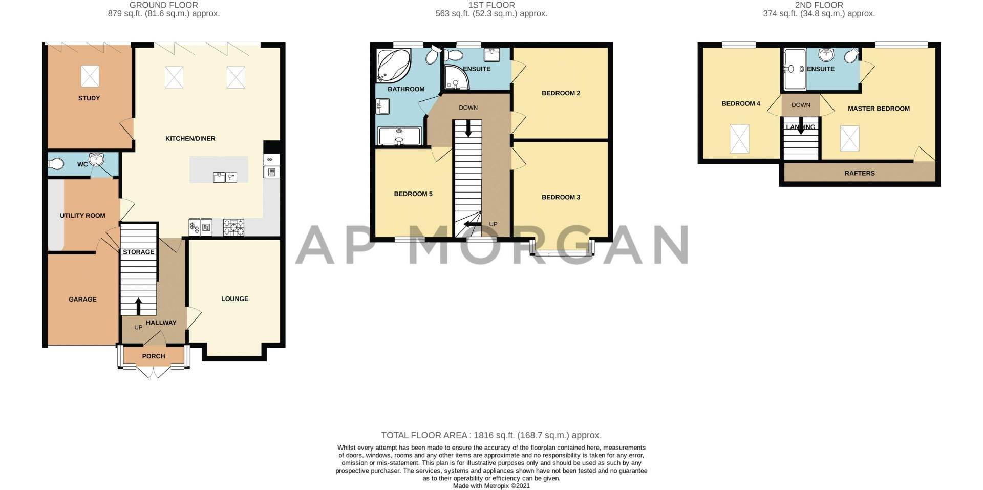 5 bed house for sale in Manor Abbey Road - Property Floorplan