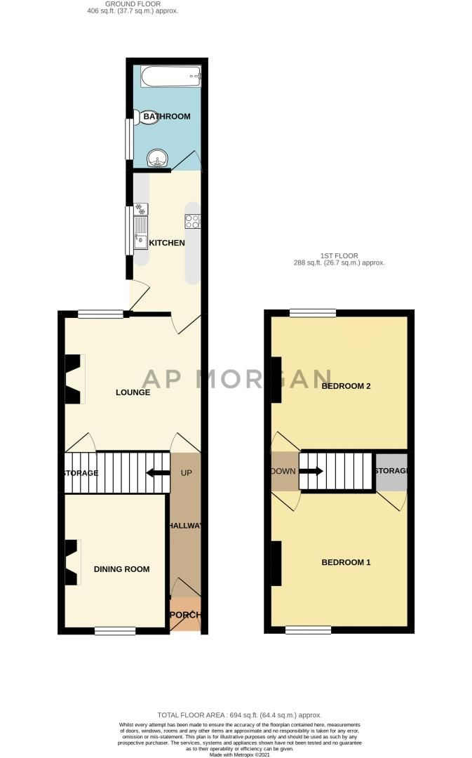 2 bed house for sale in Wheeler Street - Property Floorplan