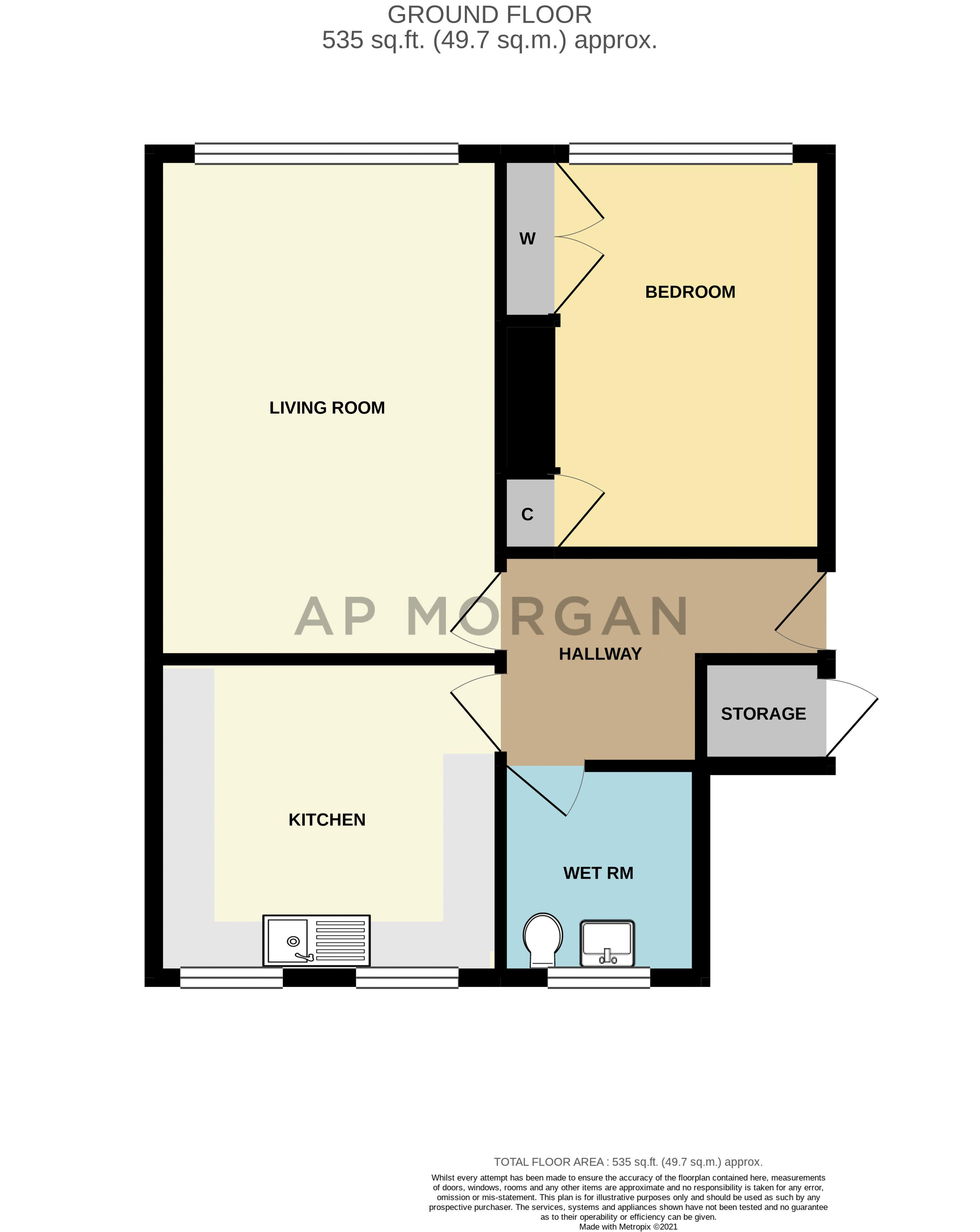 1 bed flat for sale in Allendale Court - Property Floorplan