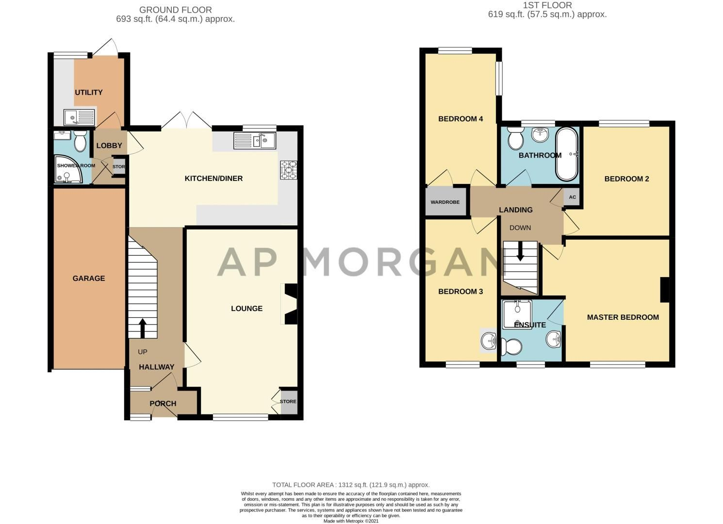 4 bed house for sale in Deansway - Property Floorplan