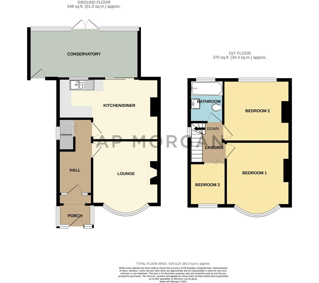 3 bed house for sale in Throne Road - Property Floorplan
