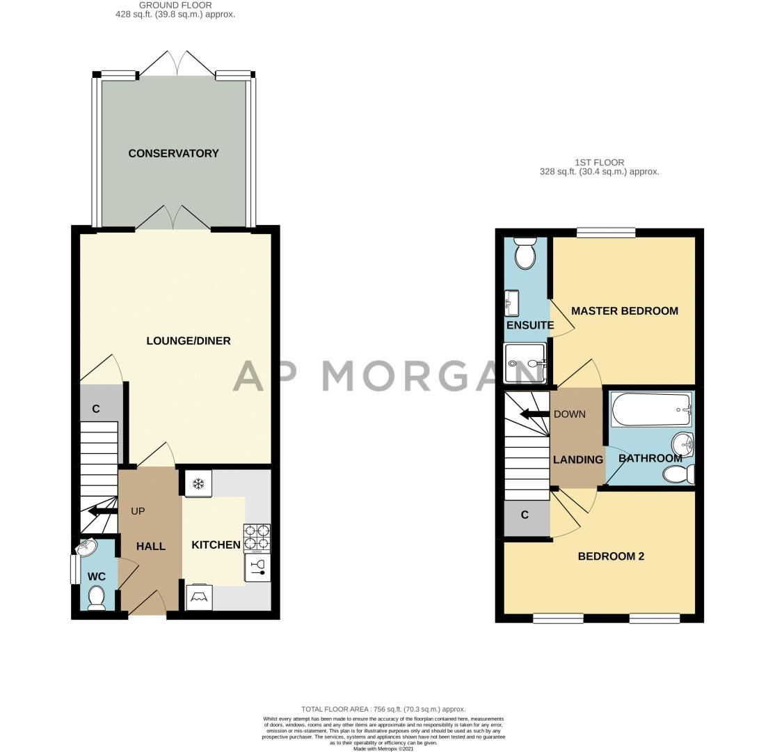 2 bed house for sale in Kemble Street - Property Floorplan