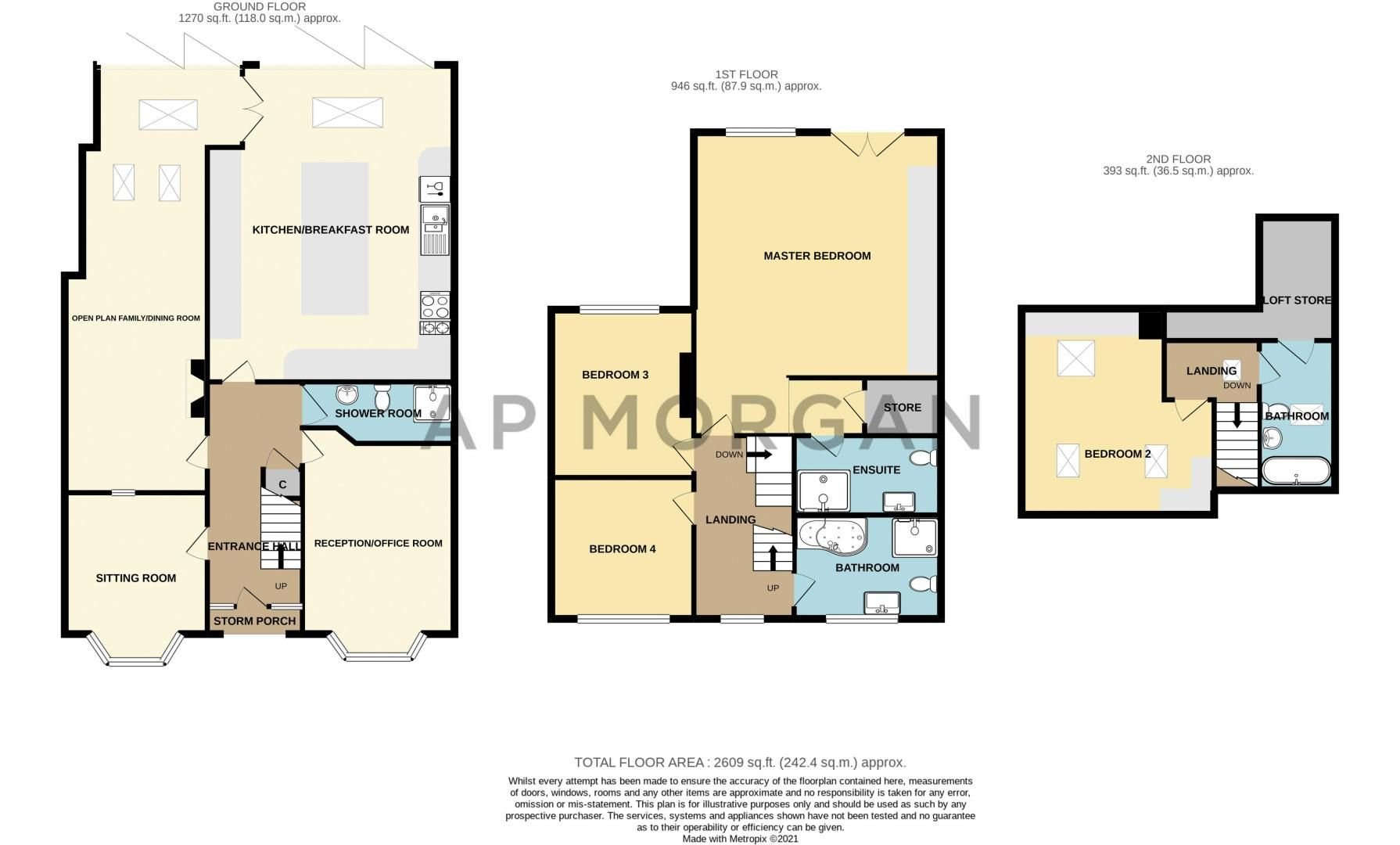 4 bed house for sale in Linthurst Newtown - Property Floorplan
