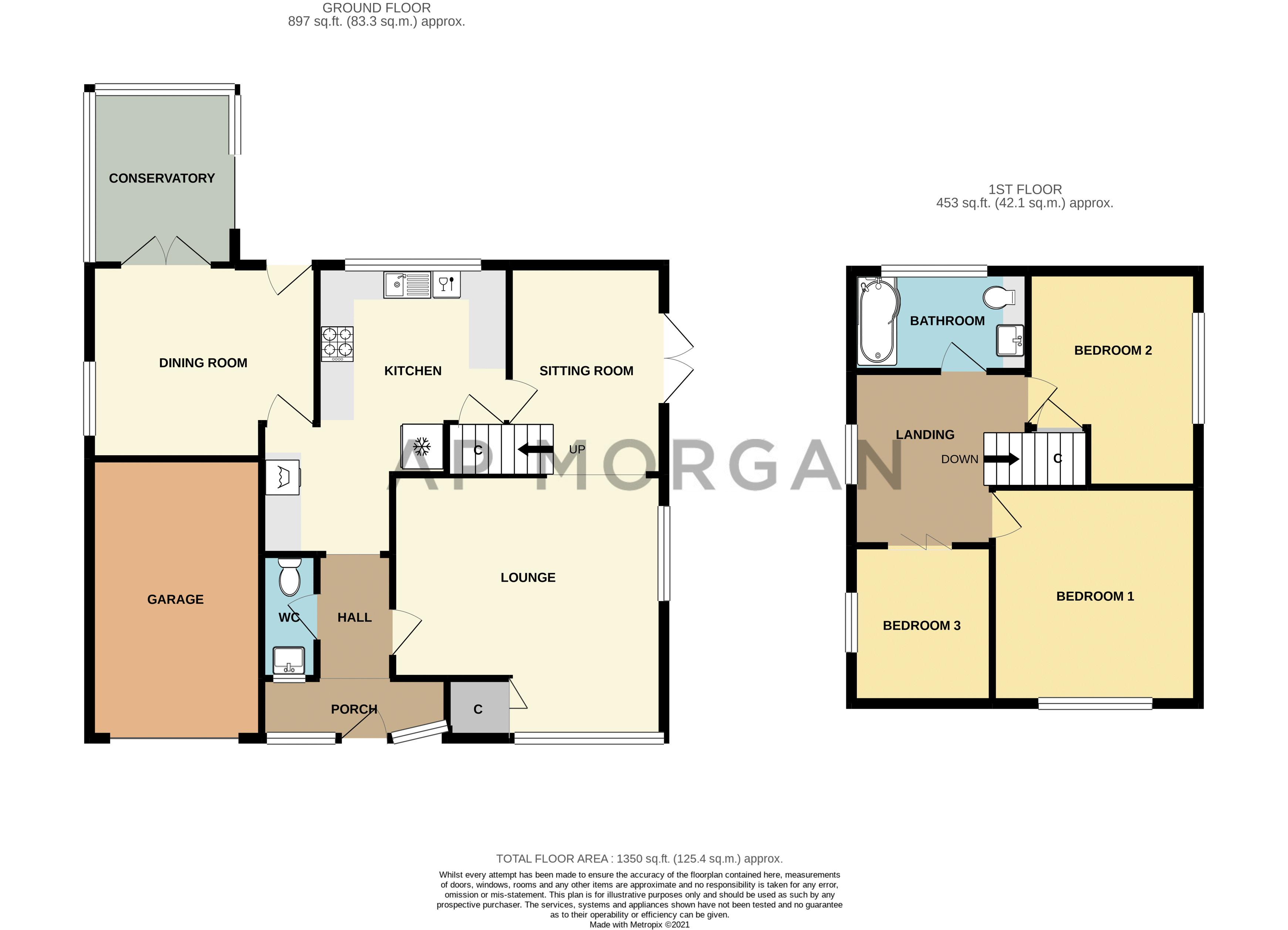 3 bed house for sale in Skilts Avenue - Property Floorplan