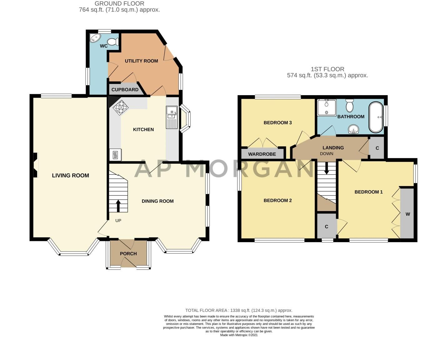 3 bed cottage for sale in Lickey Rock - Property Floorplan