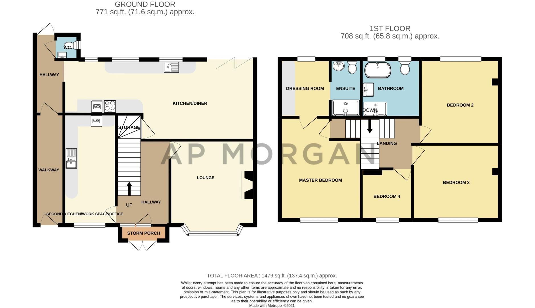 4 bed  for sale in Hawne Lane - Property Floorplan