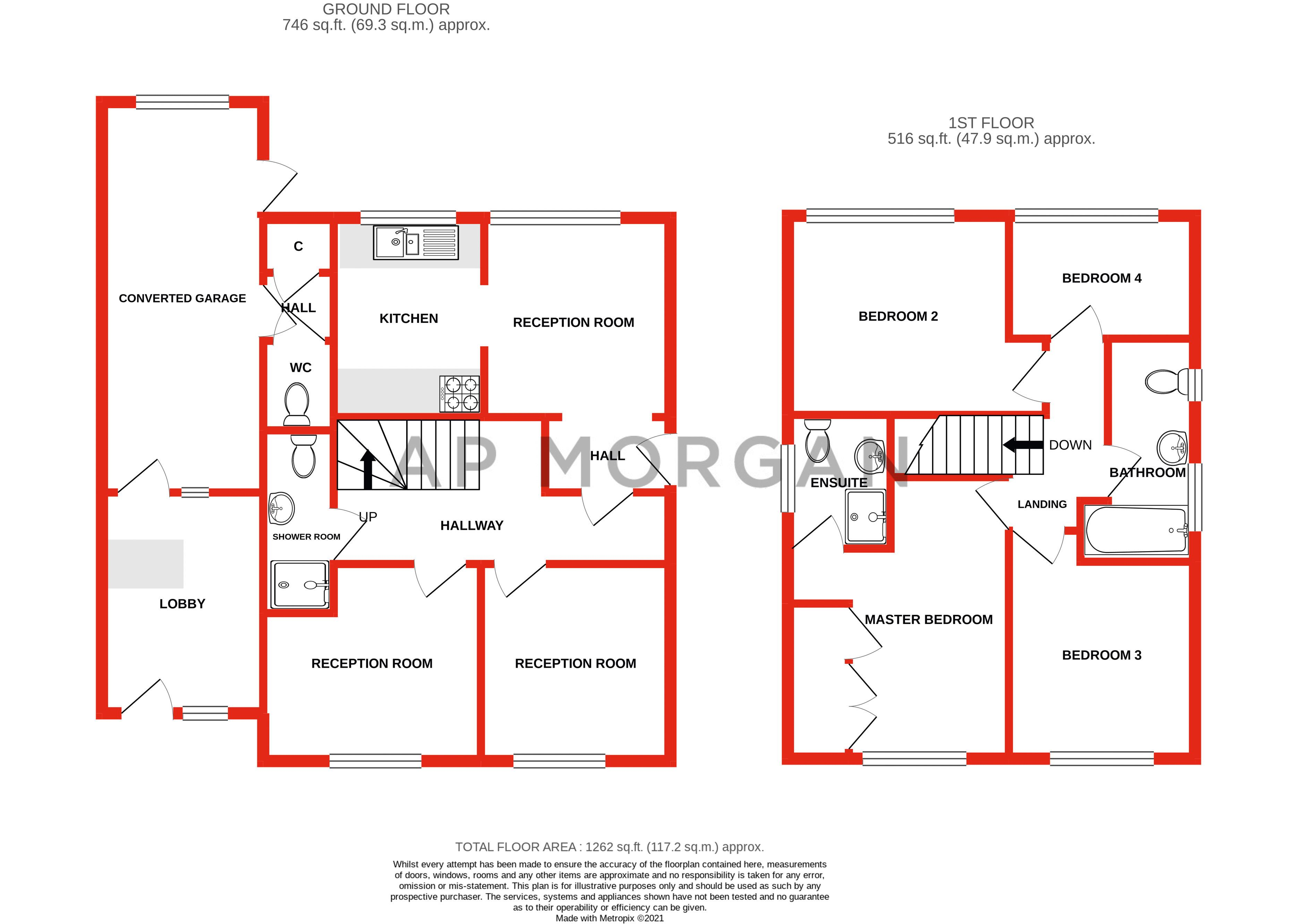 4 bed house for sale in Woodrow Lane - Property Floorplan