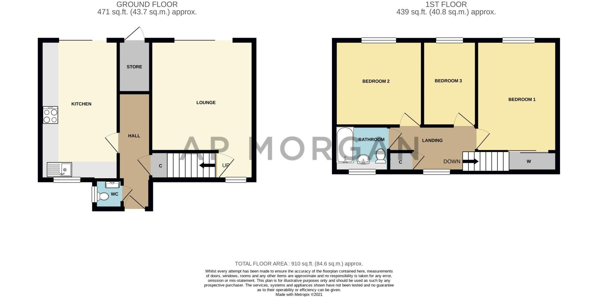 3 bed house for sale in Frankton Close - Property Floorplan