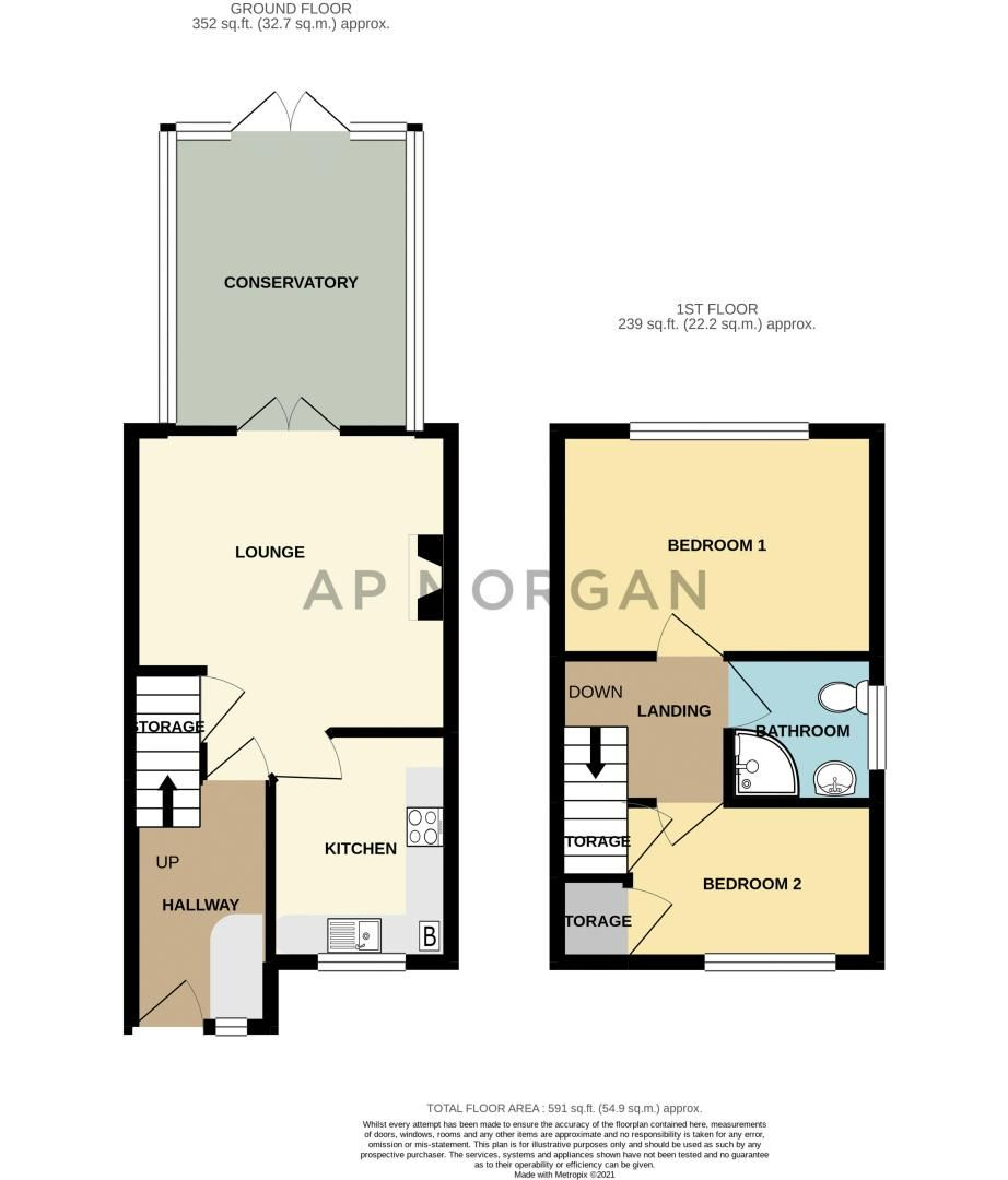2 bed house for sale in The Forge - Property Floorplan