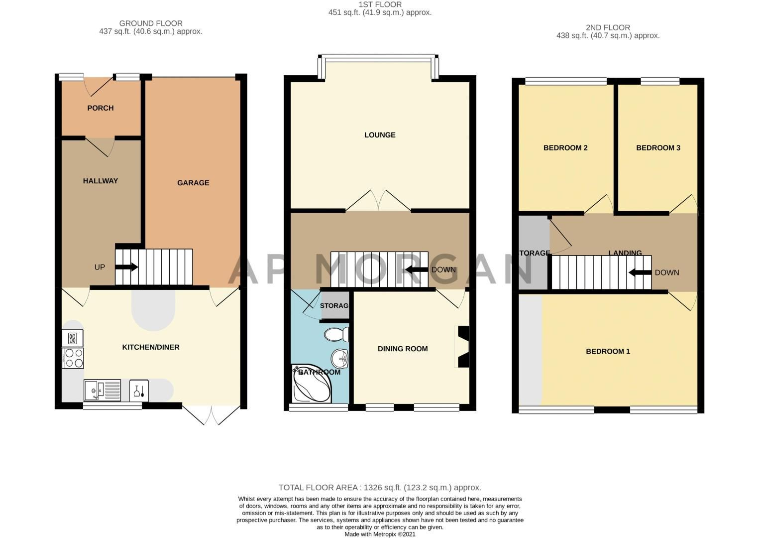 3 bed house for sale in Brier Mill Road - Property Floorplan