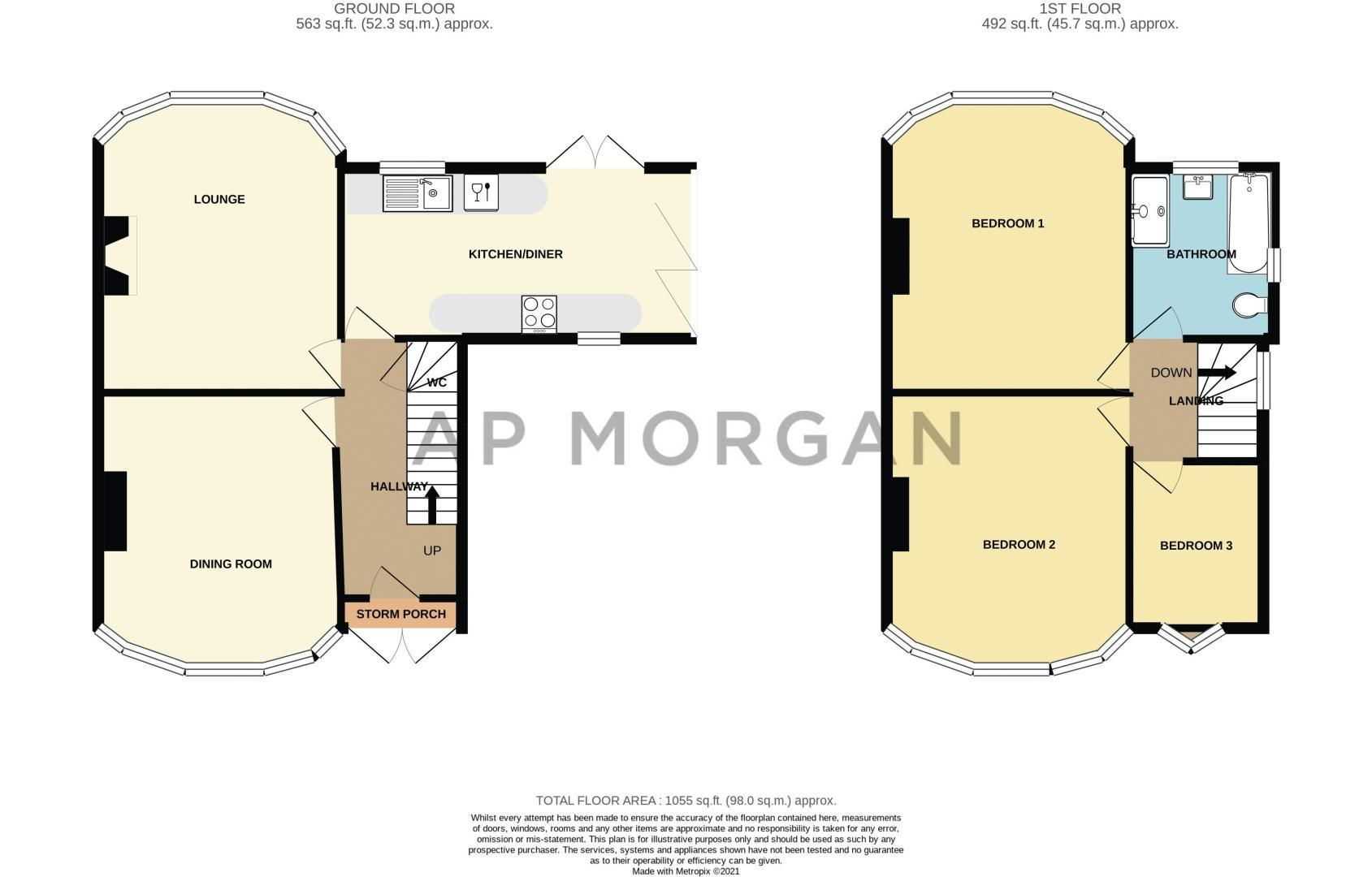 3 bed house for sale in Edenhall Road - Property Floorplan