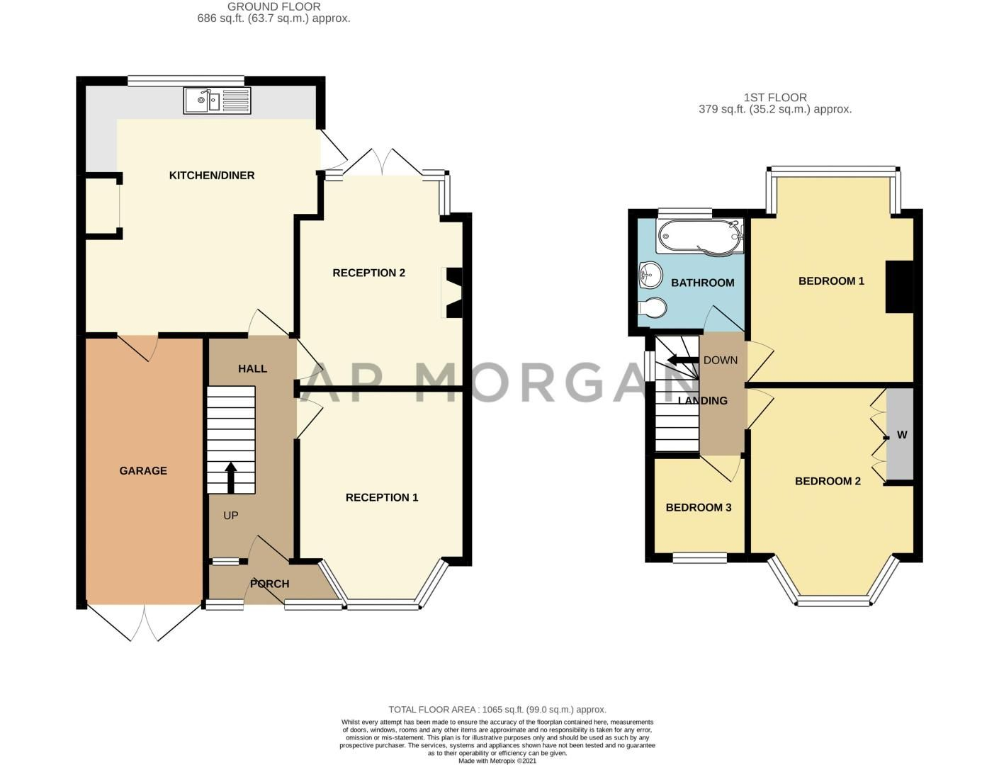 3 bed house for sale in Osmaston Road - Property Floorplan