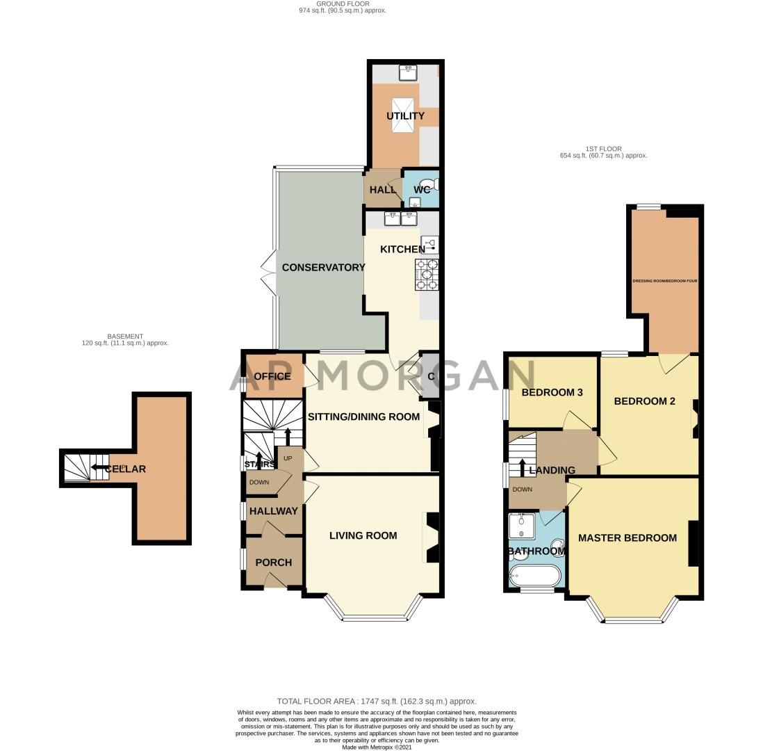 3 bed house for sale in The Crescent - Property Floorplan