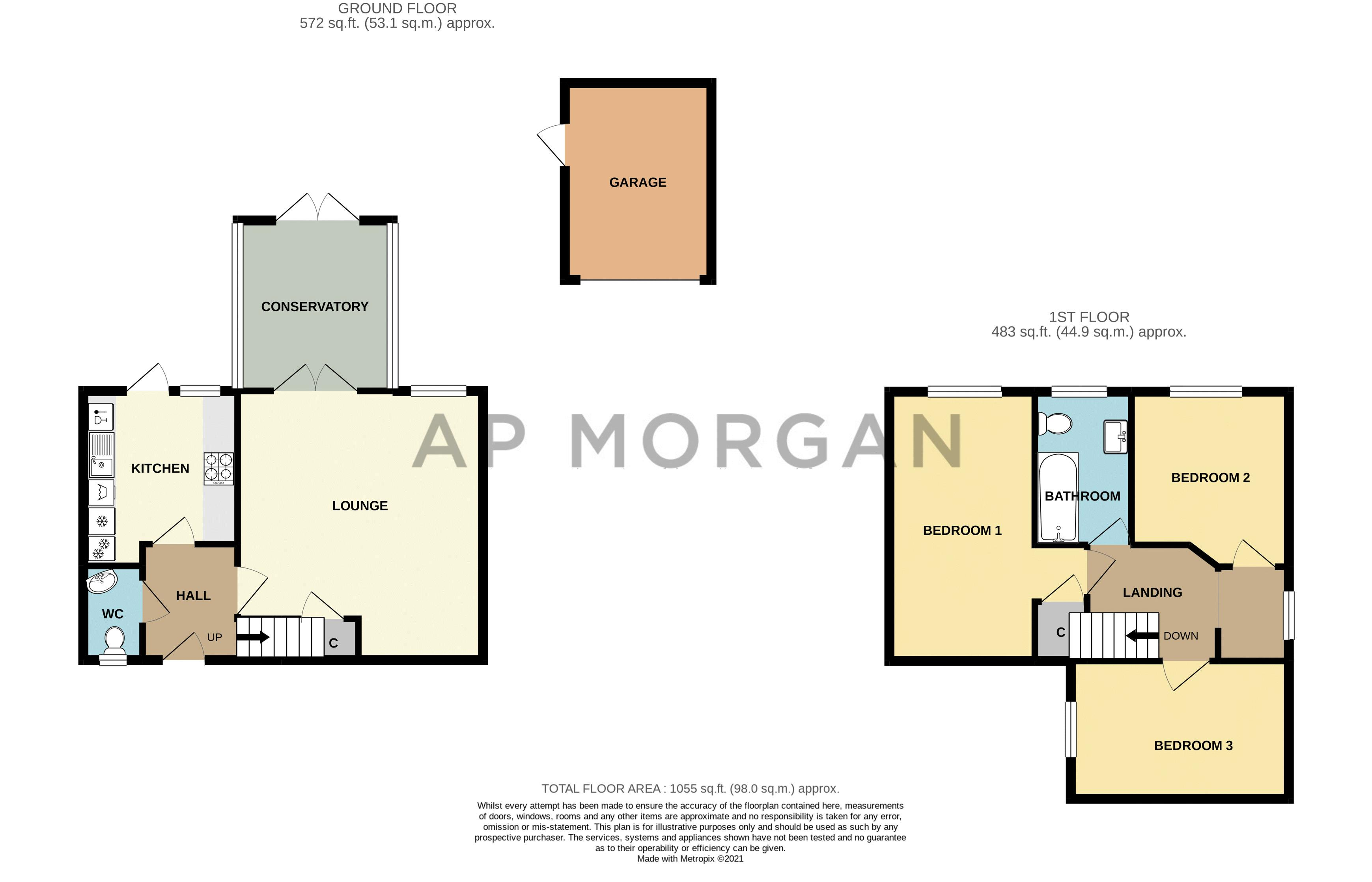 3 bed house for sale in Corelli Close - Property Floorplan