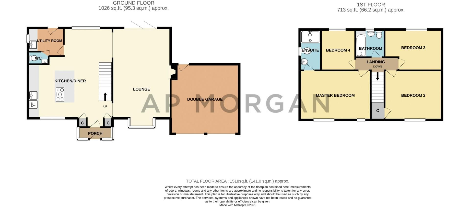 4 bed house for sale in Towbury Close - Property Floorplan