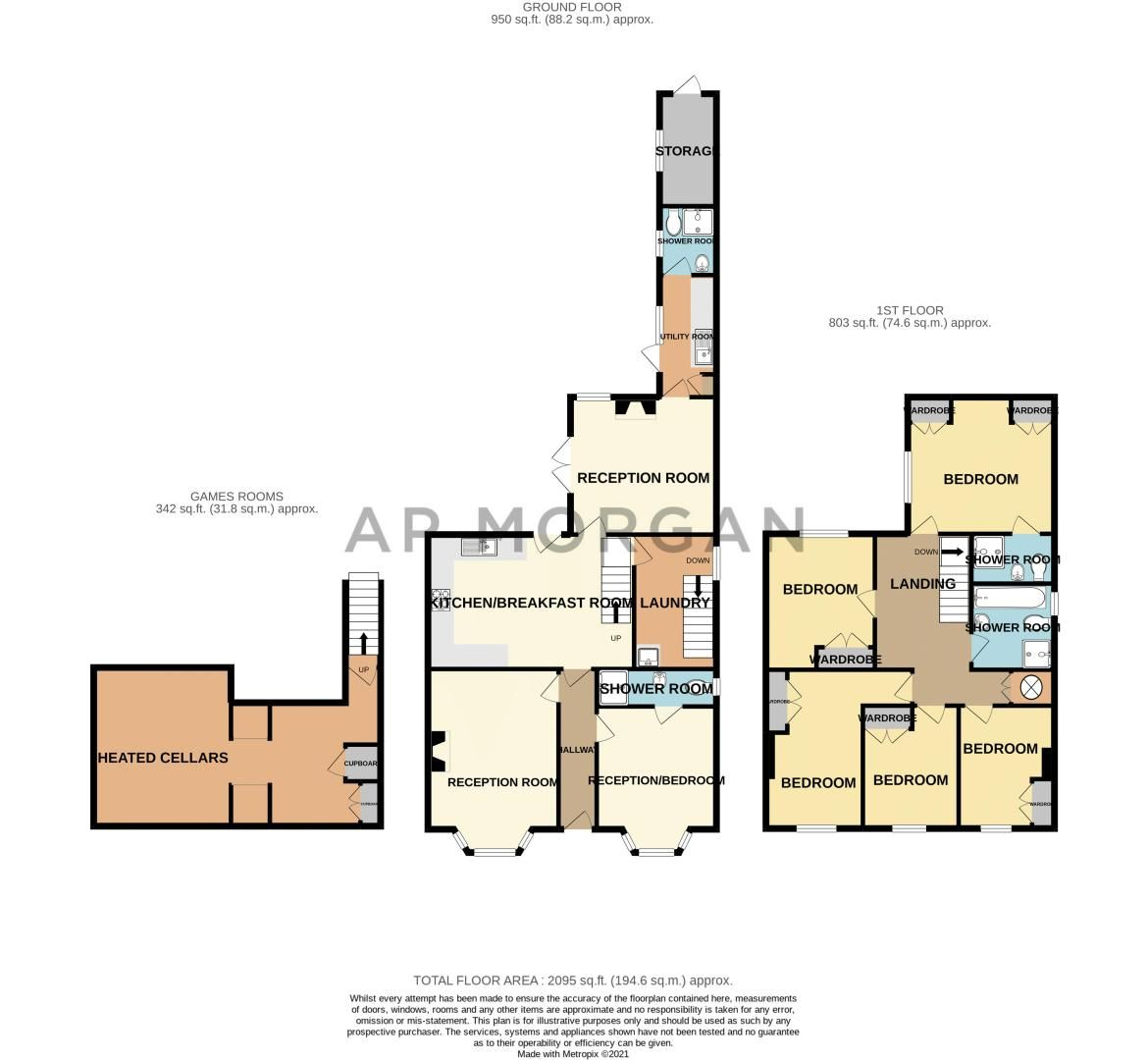 5 bed house for sale in Stourbridge Road - Property Floorplan