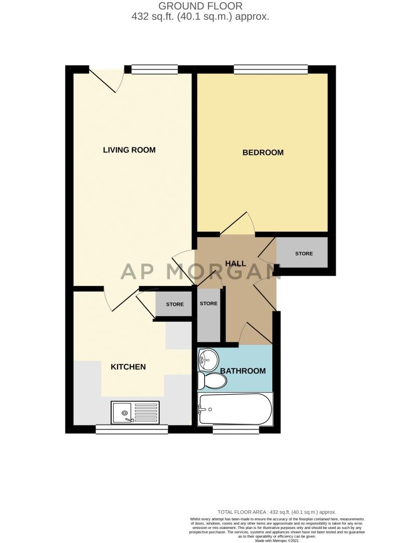 1 bed flat for sale in Fownhope Close - Property Floorplan